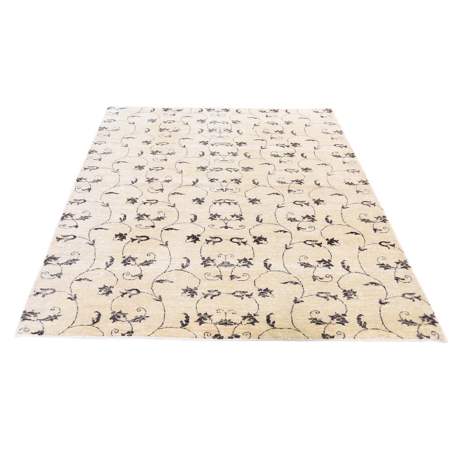 Mid Century Modern Collection Hand Knotted Beige Rug No: 0192020