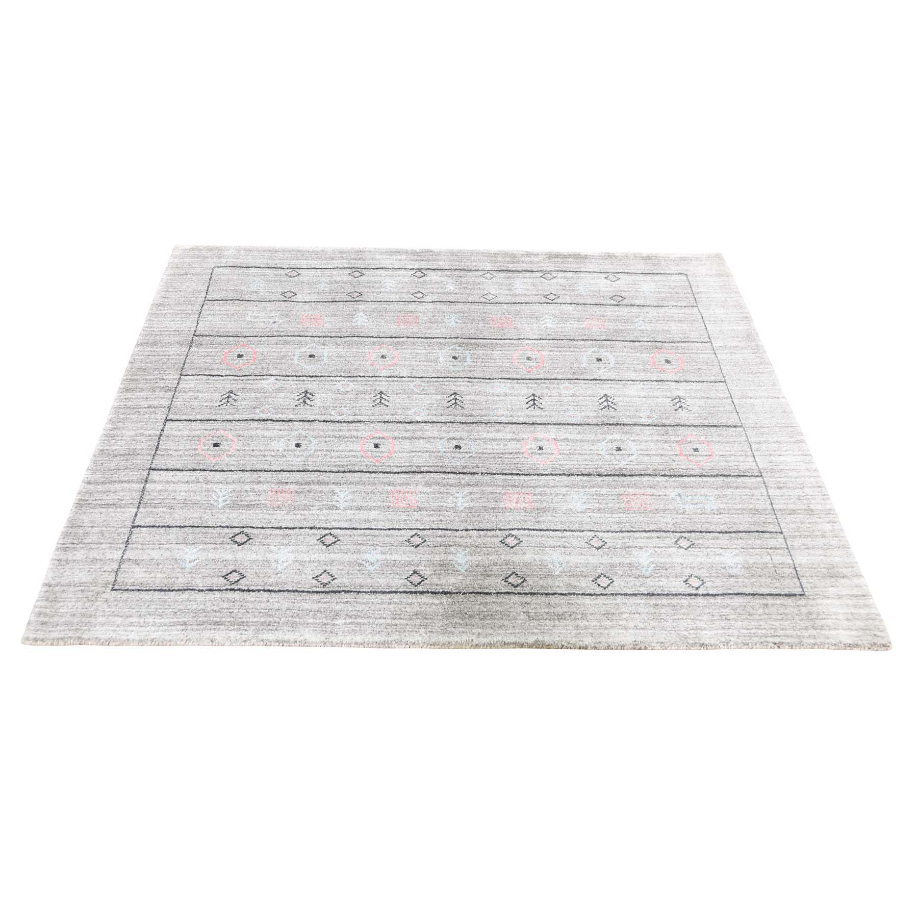Mid Century Modern Collection Hand Loomed Grey Rug No: 0192024