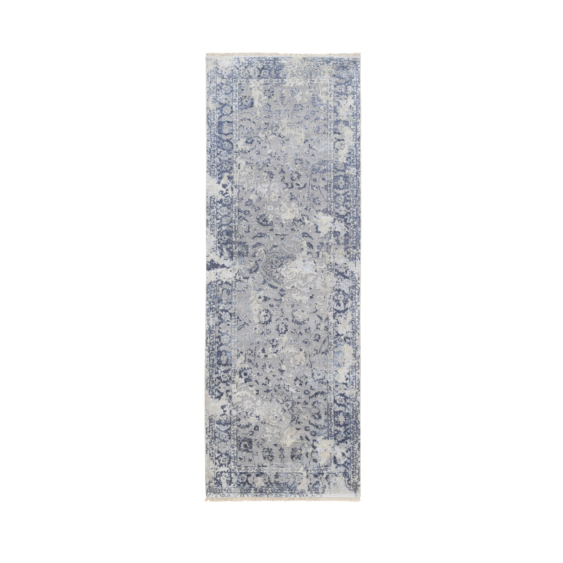 Transitional Hand Knotted Grey Rug No: 1126992