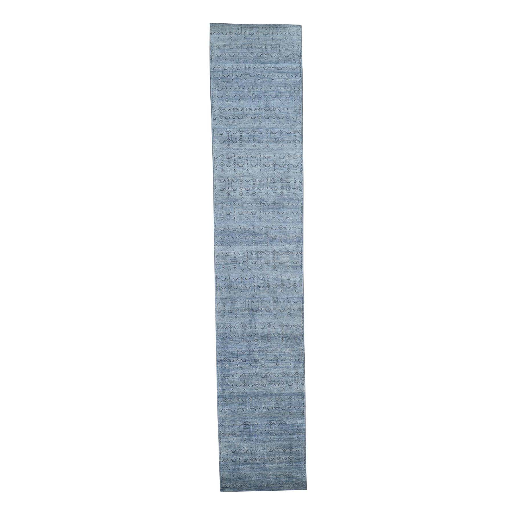 Wool and Real Silk Collection Hand Knotted Grey Rug No: 0191748