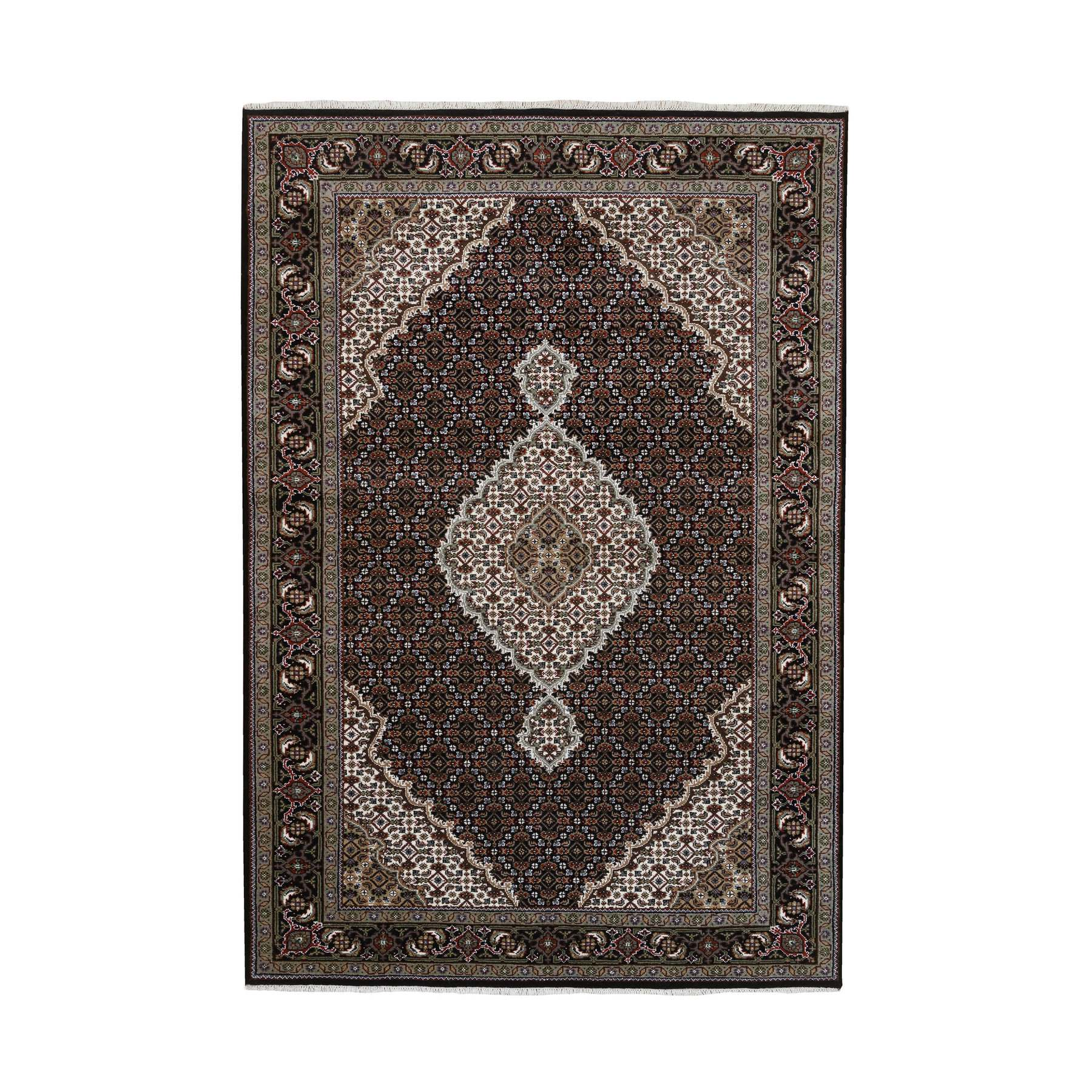 Pirniakan Collection Hand Knotted Black Rug No: 1127072