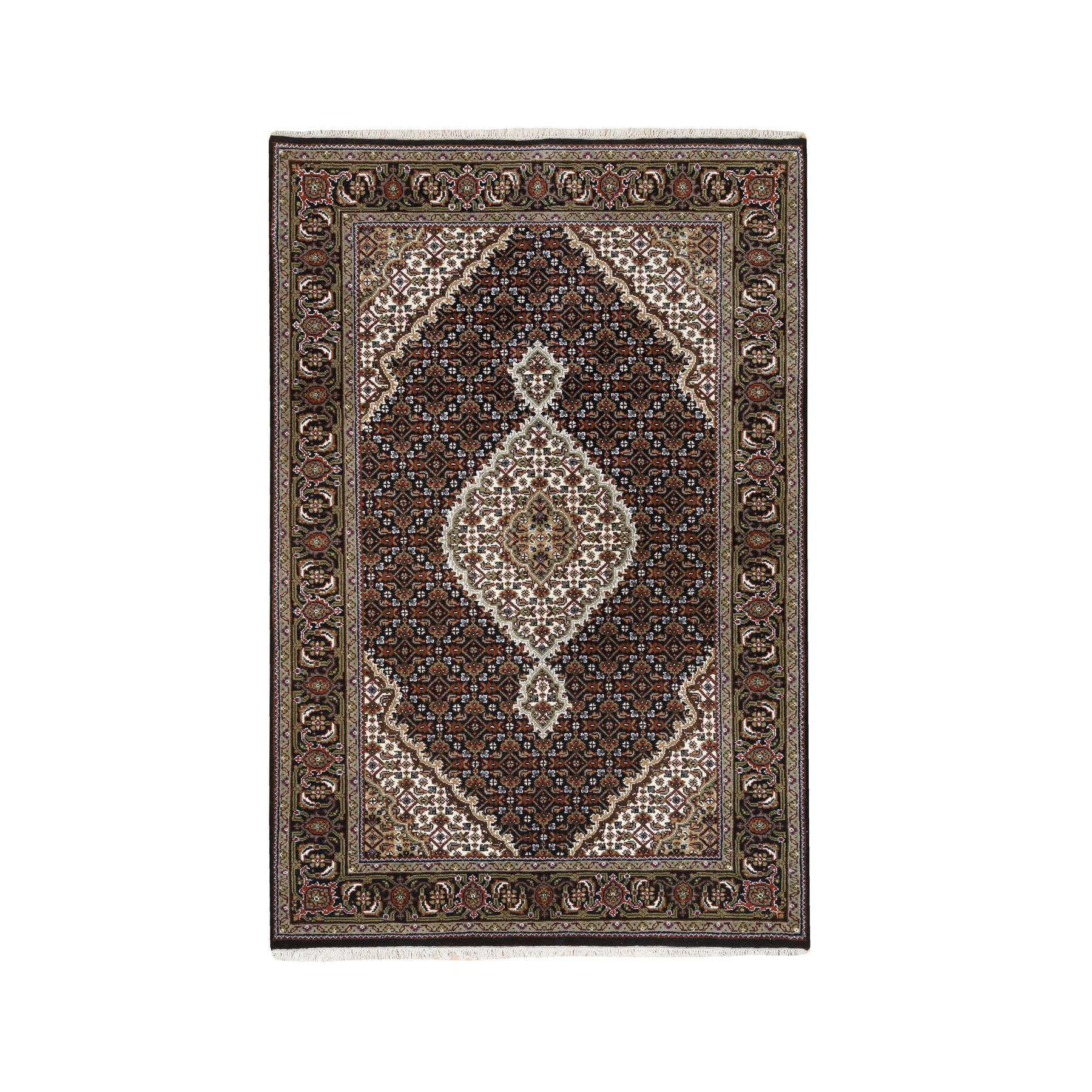 Pirniakan Collection Hand Knotted Black Rug No: 1127082
