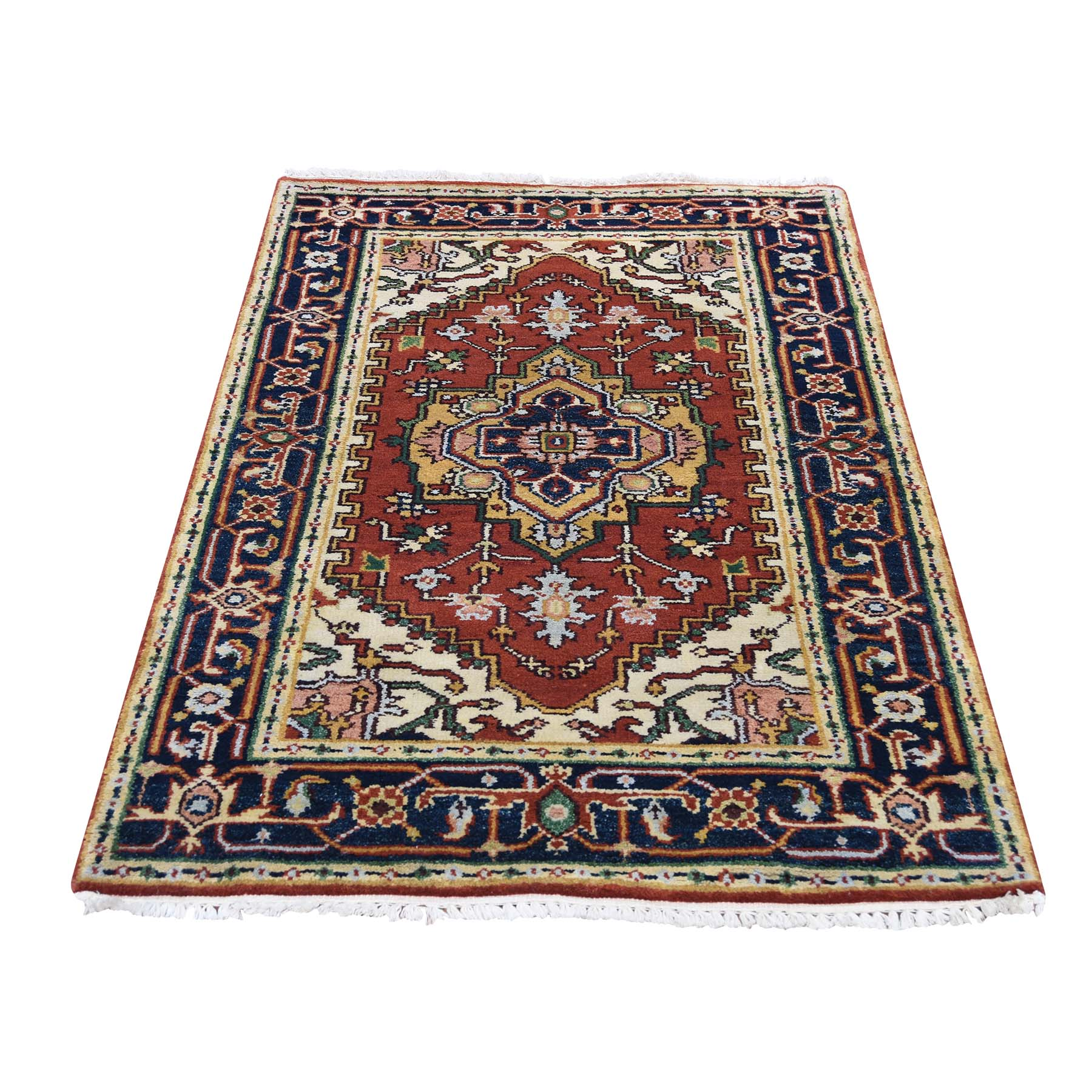 Serapi Heriz and Bakhshayesh Collection Hand Knotted Red Rug No: 0191936