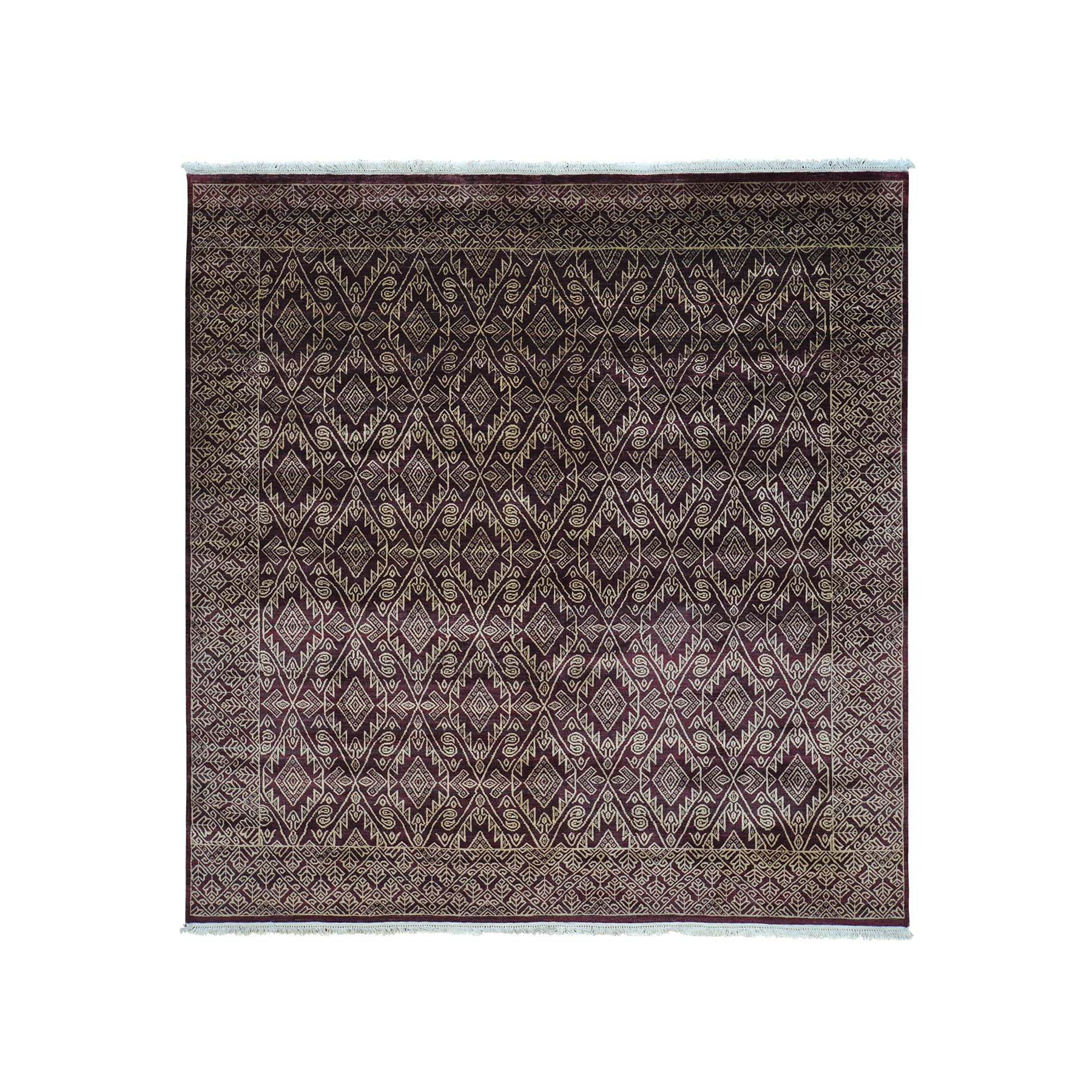 Mid Century Modern Collection Hand Knotted Red Rug No: 158370