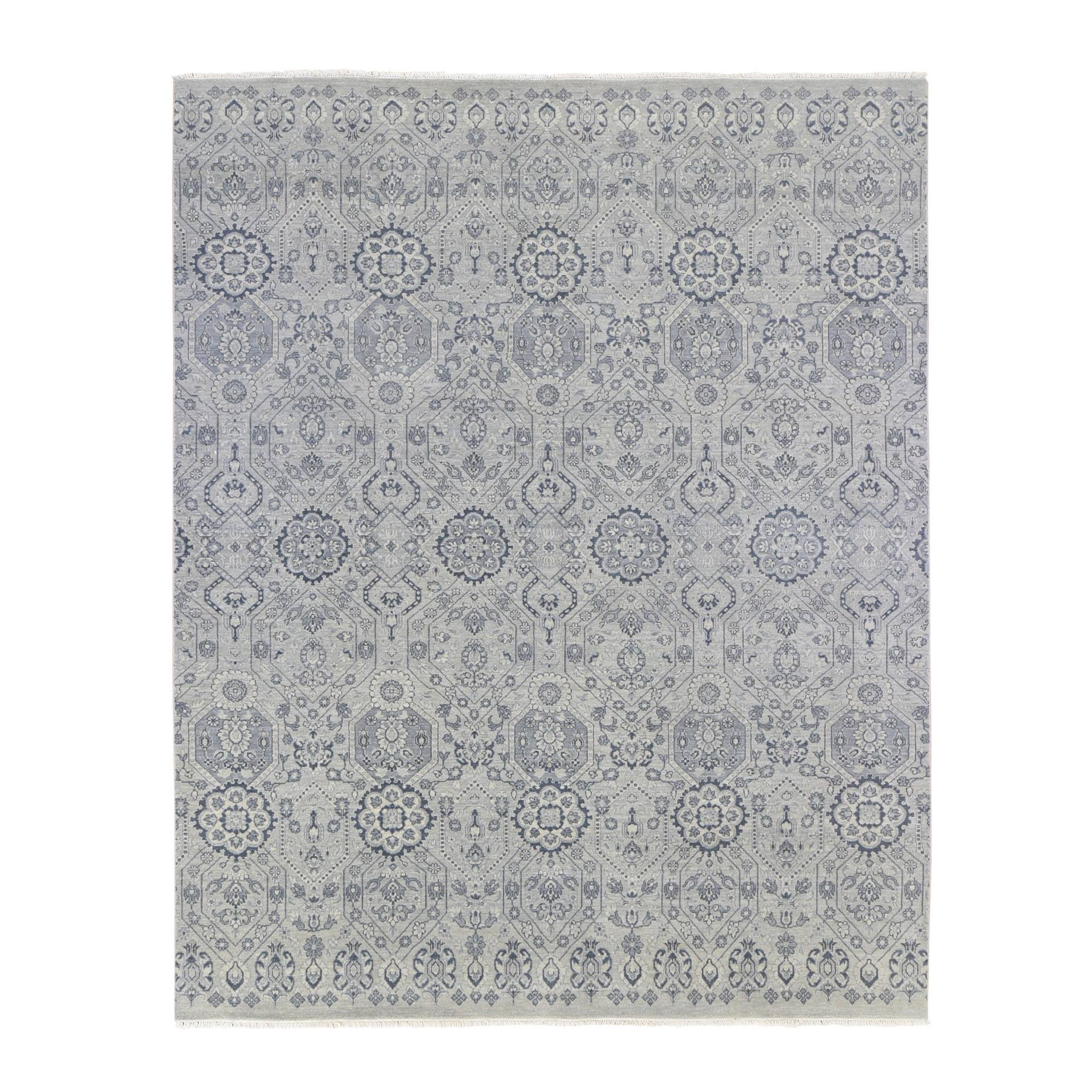 Agra And Turkish Collection Hand Knotted Grey Rug No: 1133904