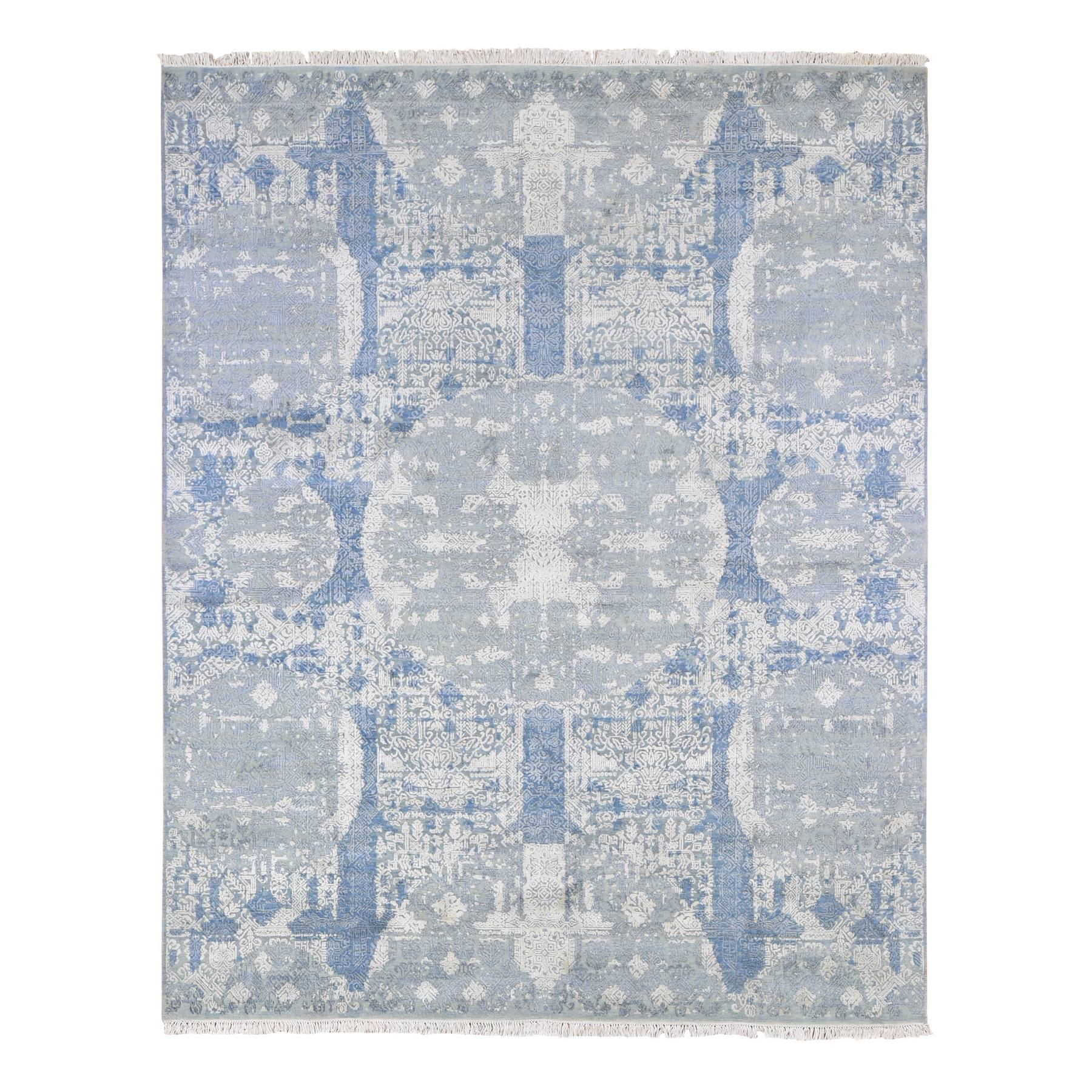 Transitional Hand Knotted Blue Rug No: 1133906