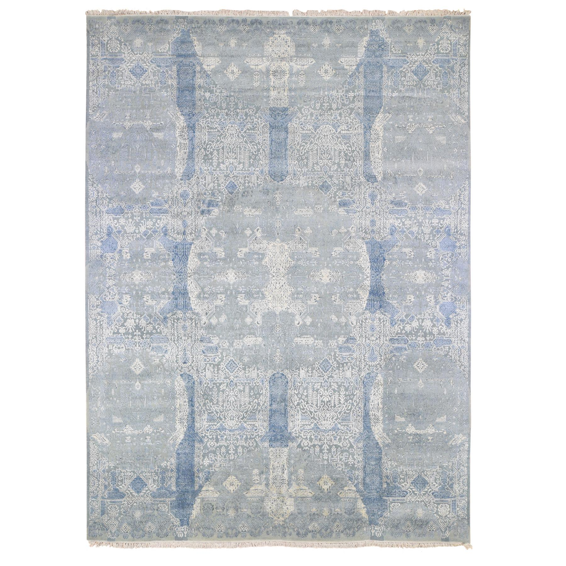Transitional Hand Knotted Blue Rug No: 1133908