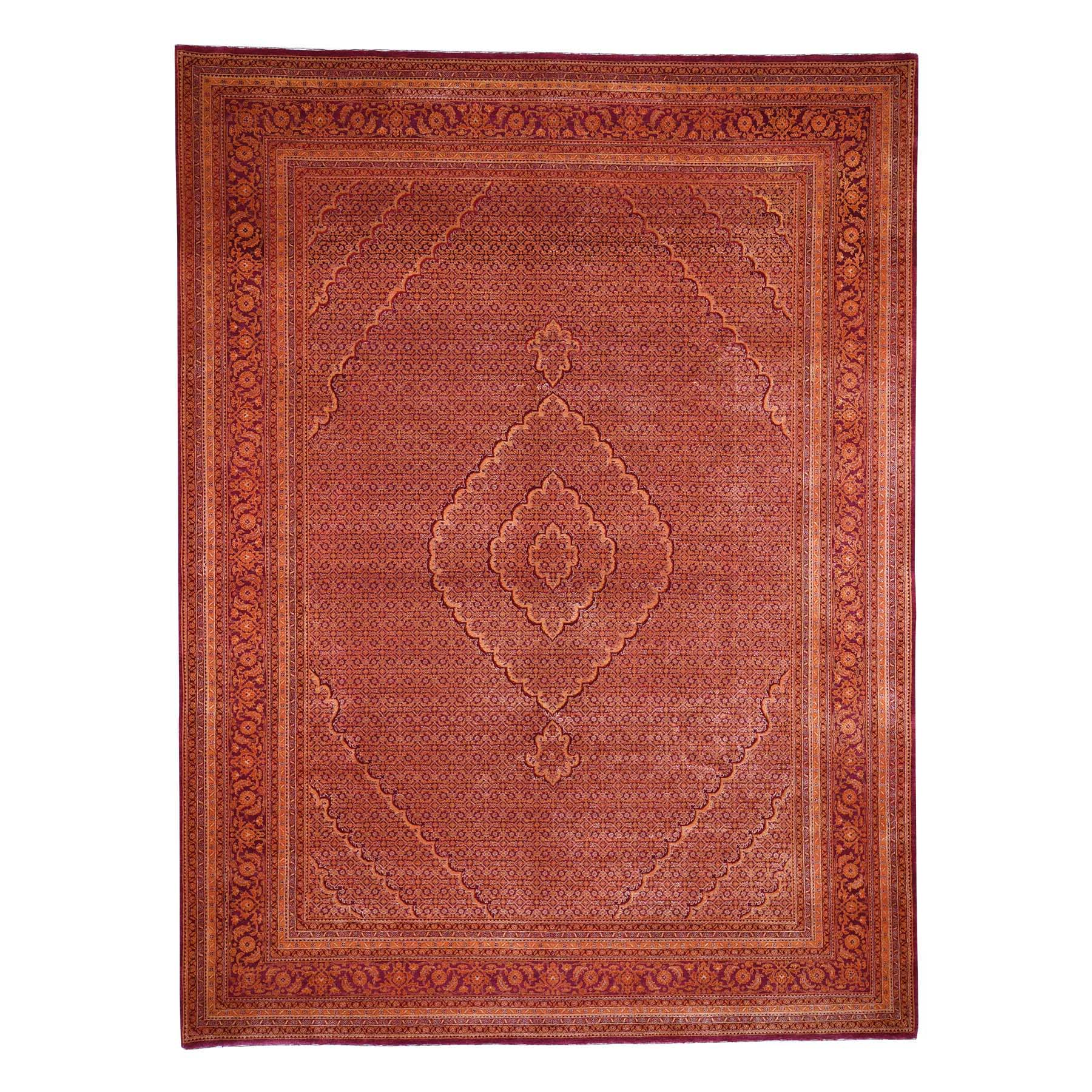 Pirniakan Collection Hand Knotted Orange Rug No: 0192074