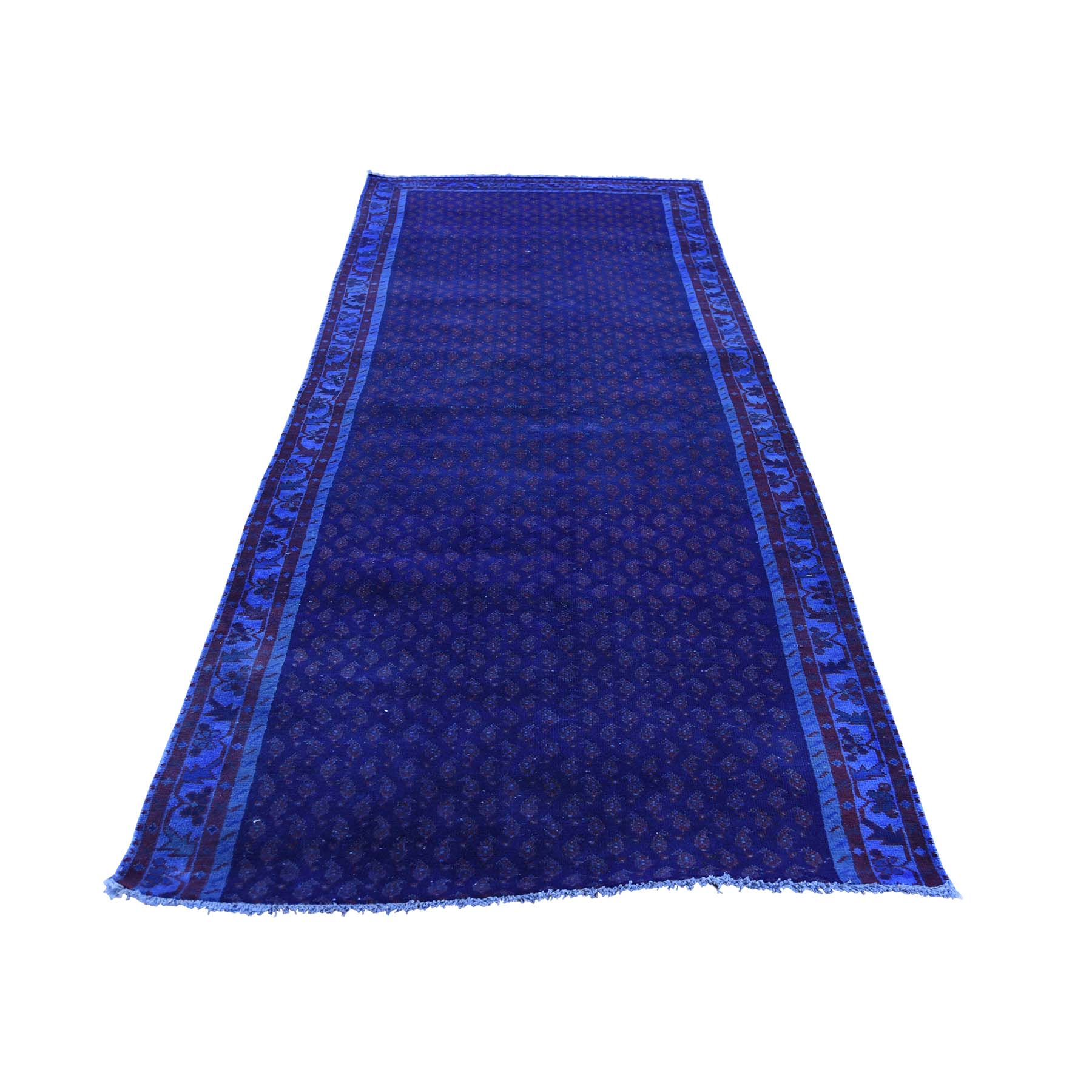 Fetneh Collection And Vintage Overdyed Collection Hand Knotted Blue Rug No: 177372