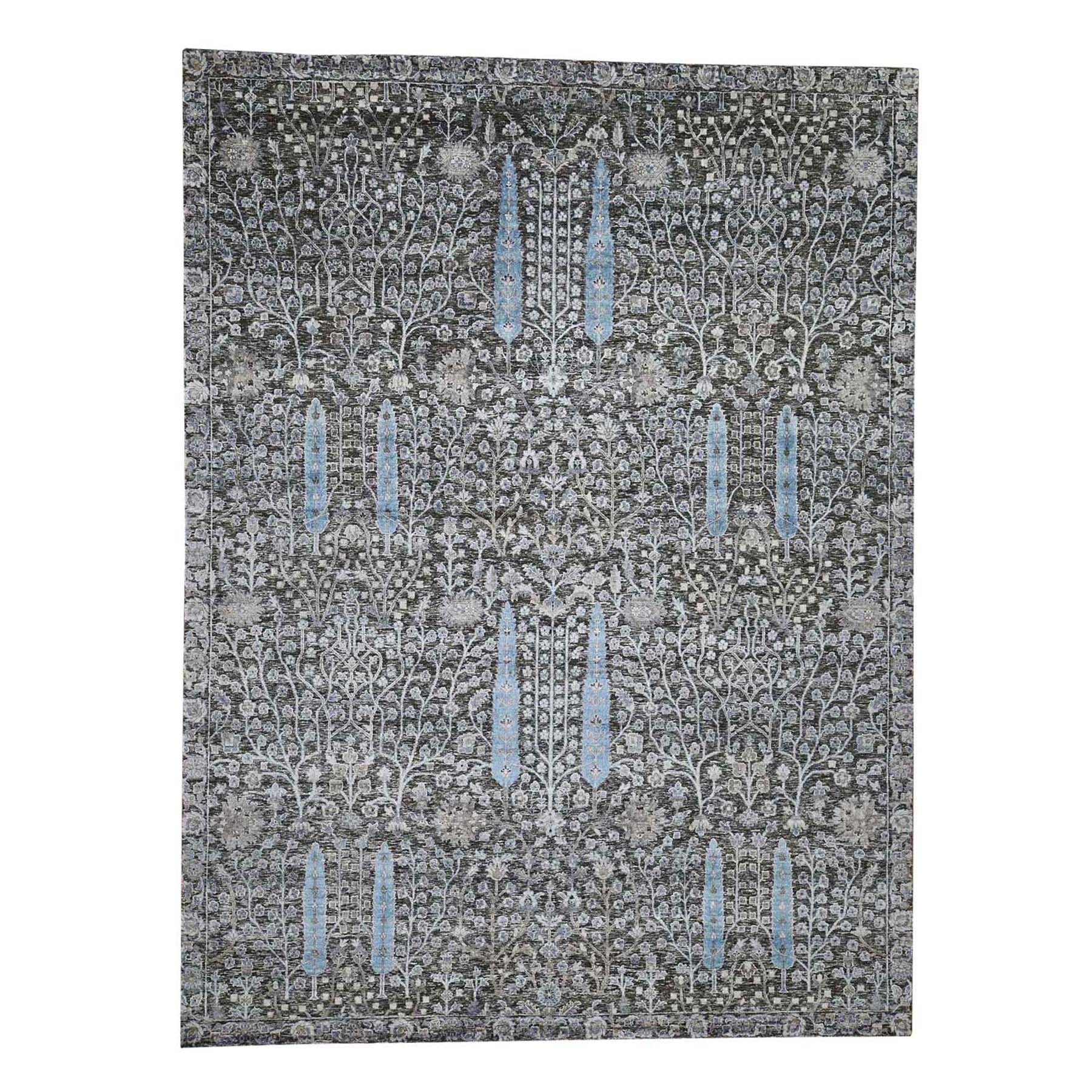 Transitional Hand Knotted Grey Rug No: 0192336