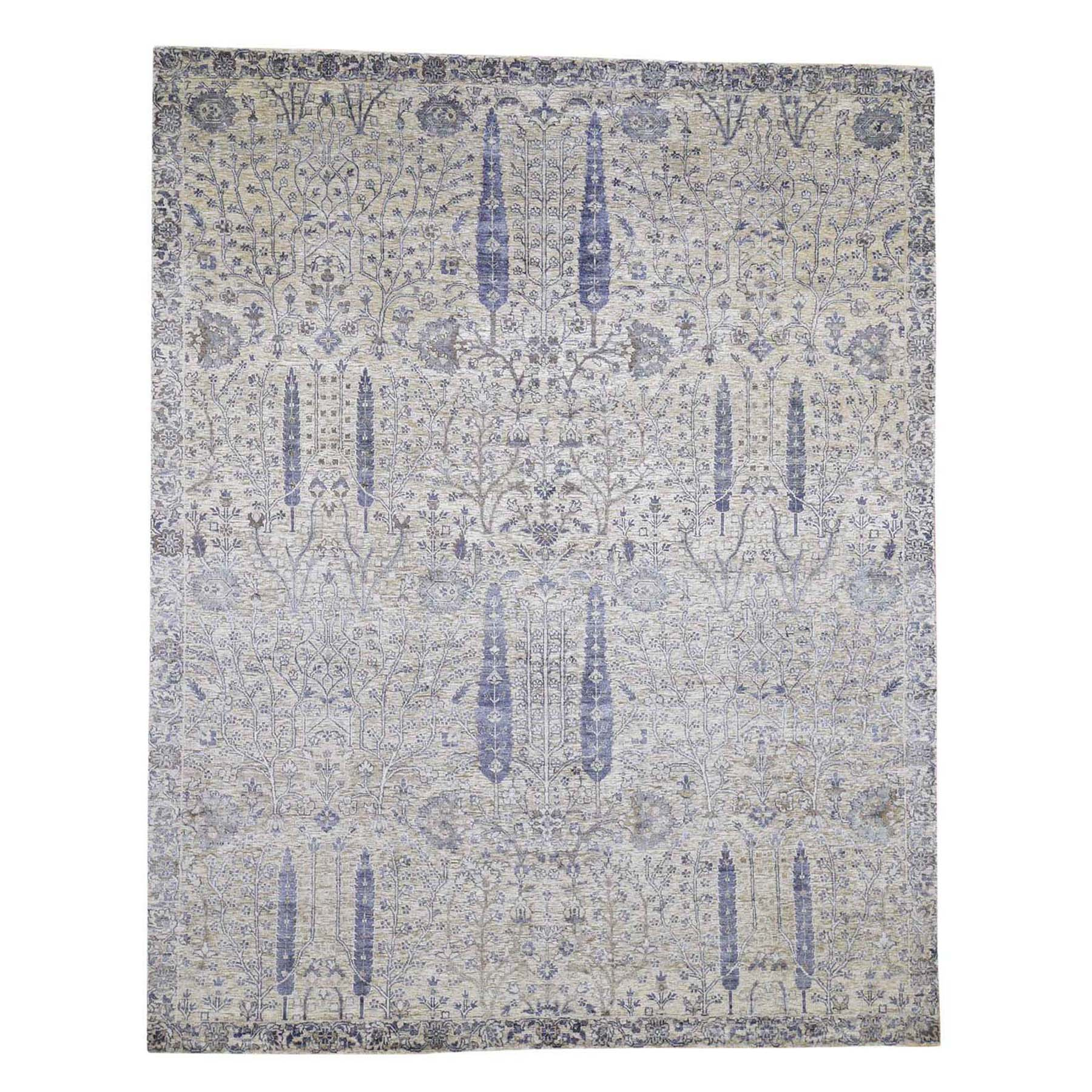 Transitional Hand Knotted Purple Rug No: 0192356