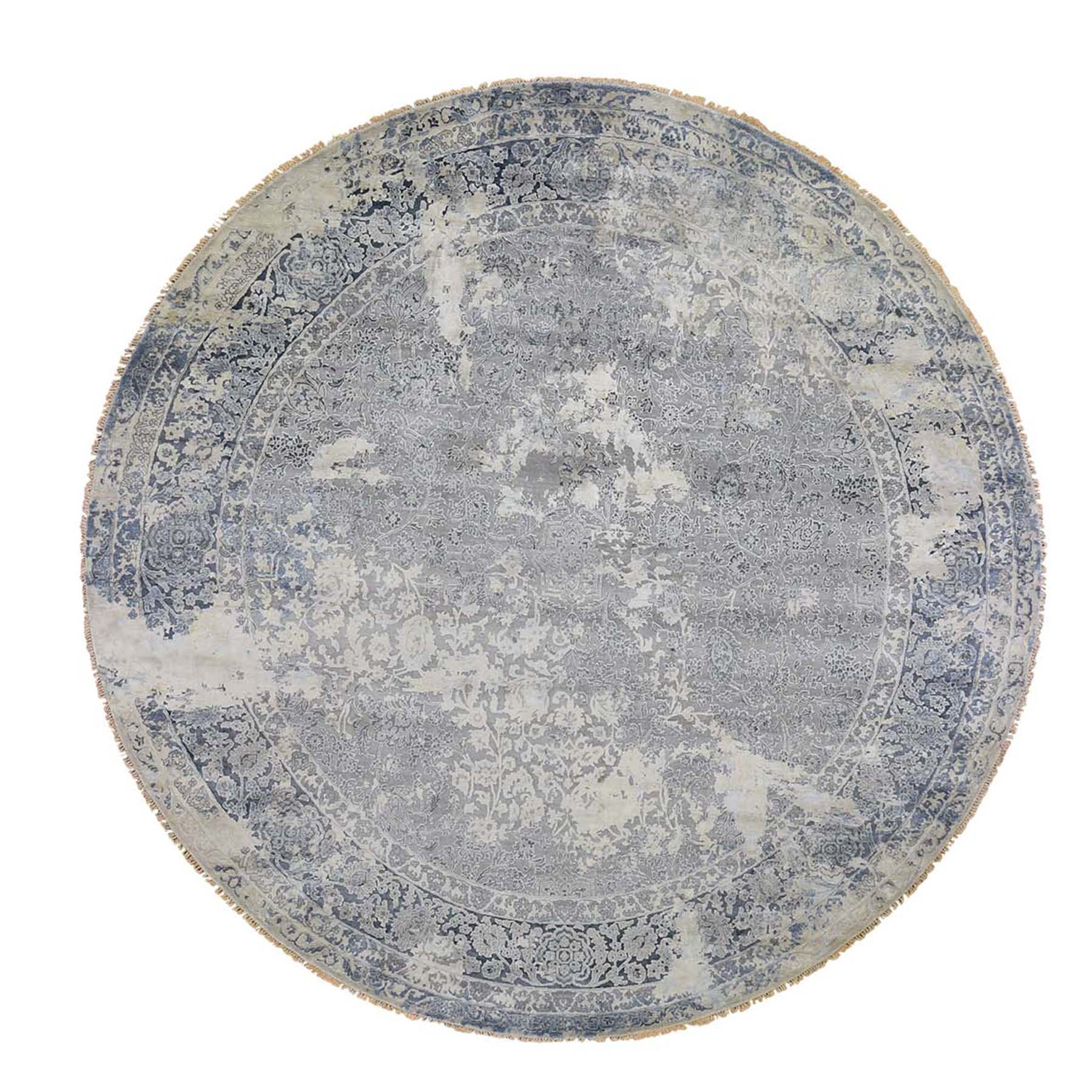Transitional Hand Knotted Grey Rug No: 0192398
