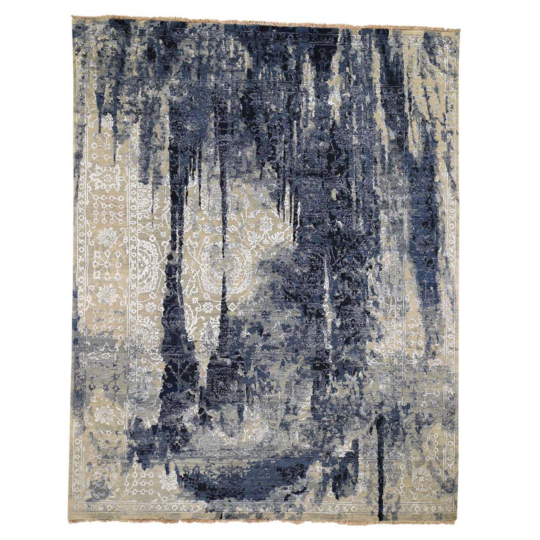 Transitional Hand Knotted Blue Rug No: 0192422
