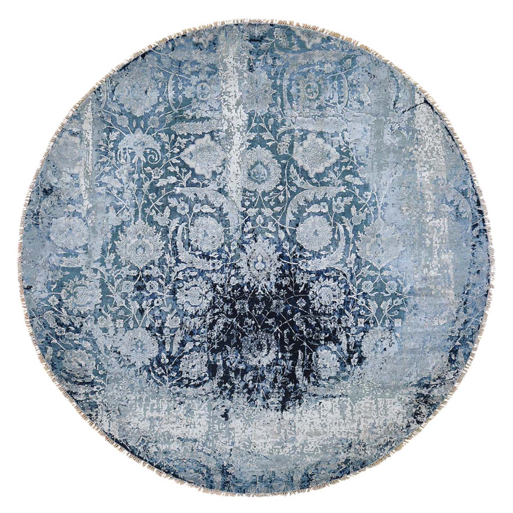 Transitional Hand Knotted Blue Rug No: 0192448