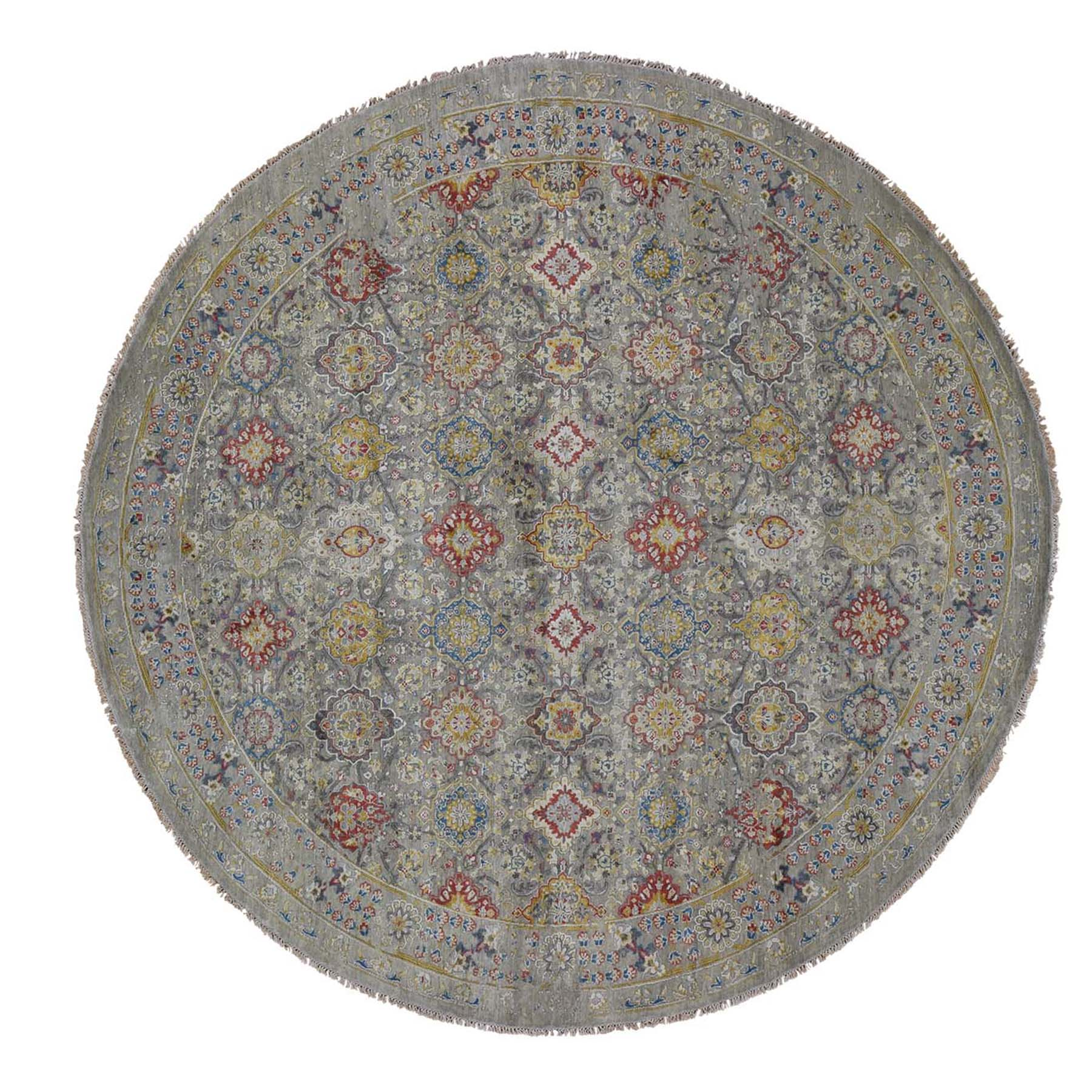 Transitional Hand Knotted Grey Rug No: 0192418