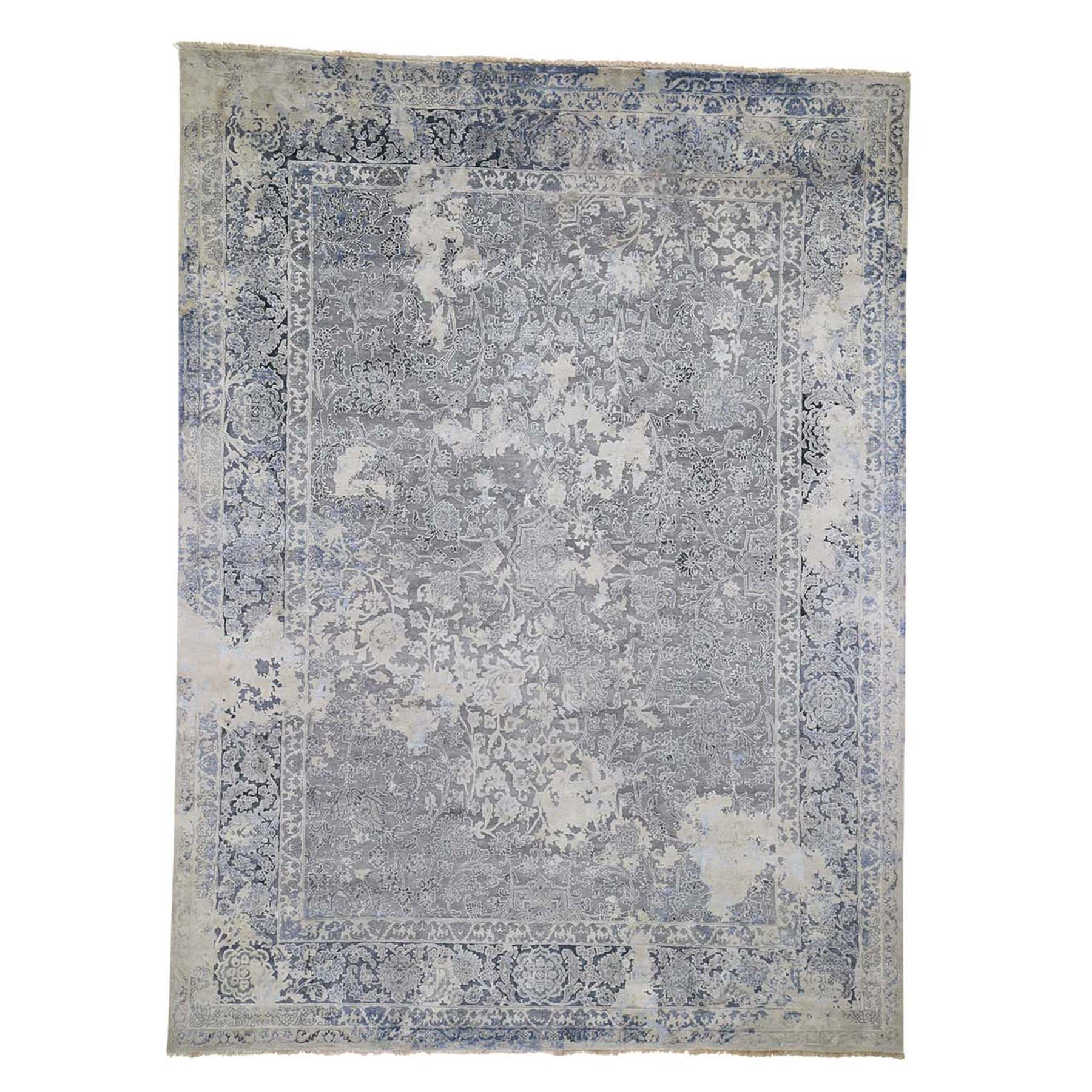 Transitional Hand Knotted Grey Rug No: 0192512