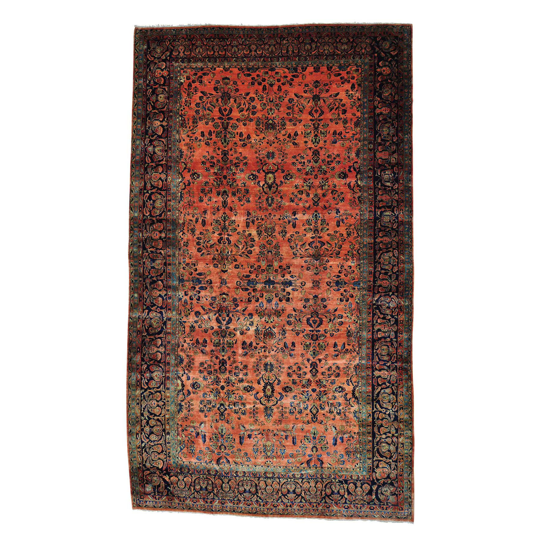 Antique Collection Hand Knotted Orange Rug No: 158774