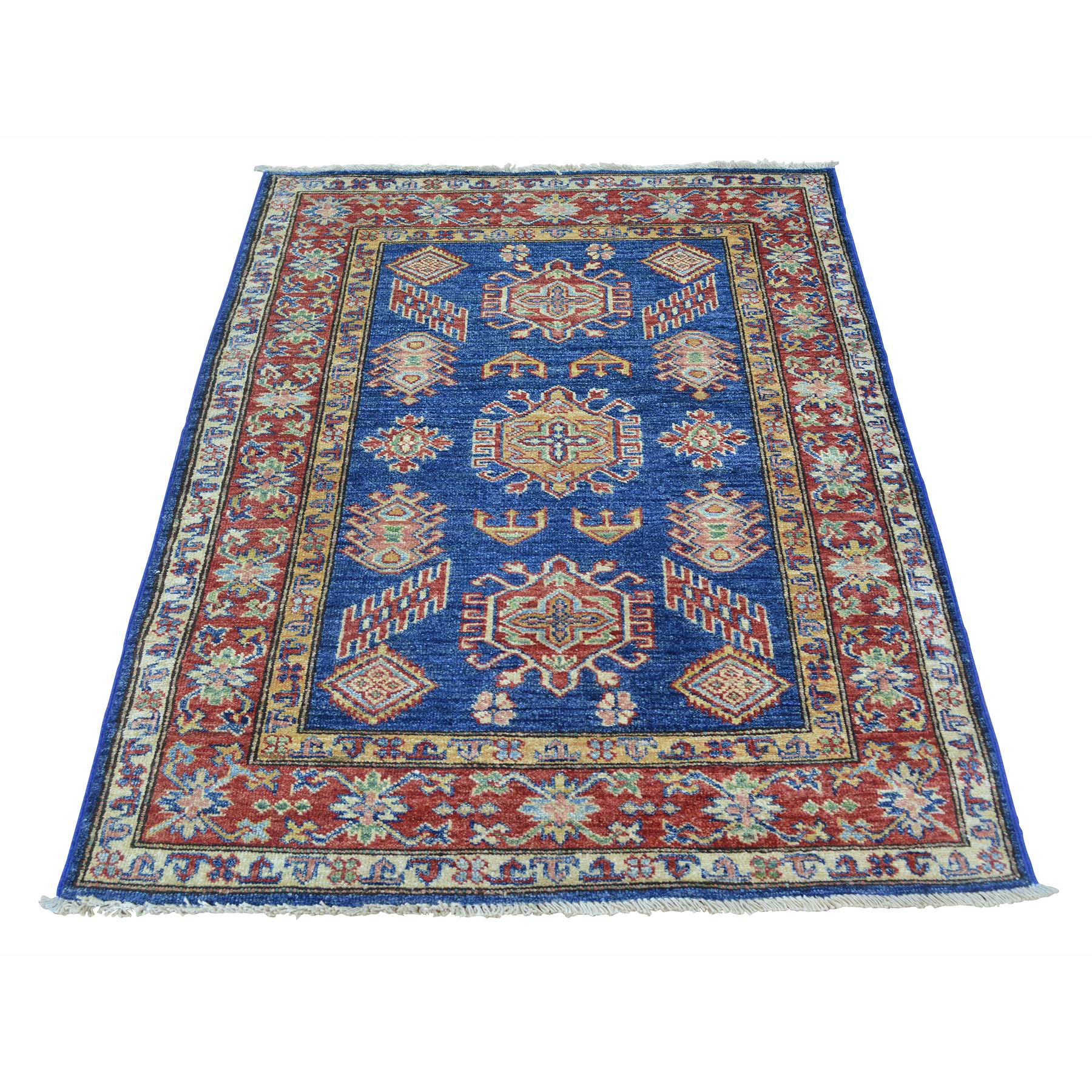 Caucasian Collection Hand Knotted Blue Rug No: 0151540