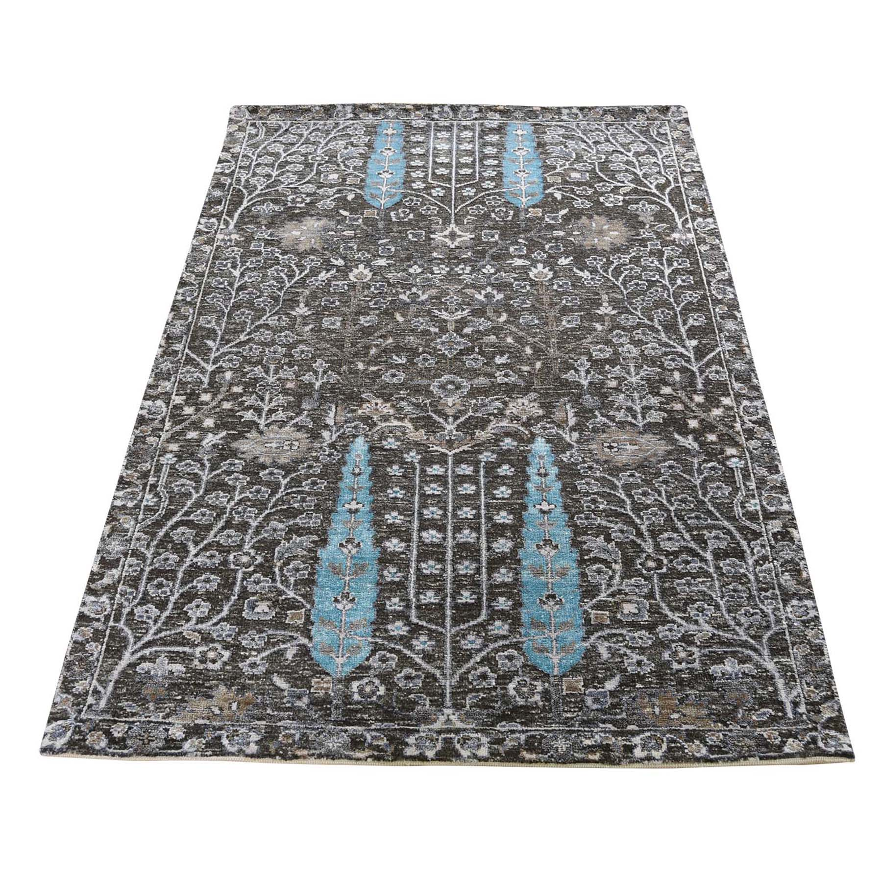 Transitional Hand Knotted Grey Rug No: 0192632