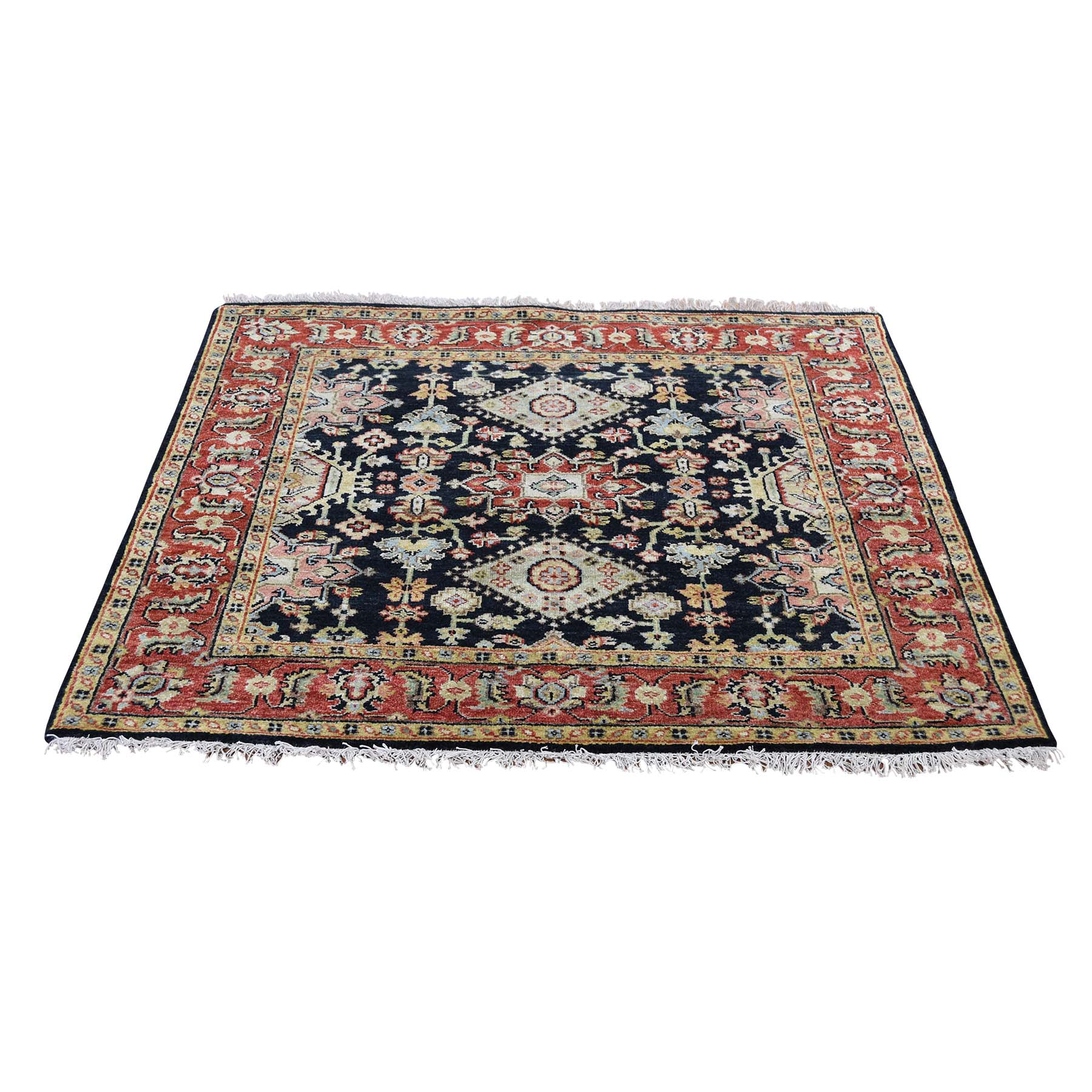 Serapi Heriz and Bakhshayesh Collection Hand Knotted Black Rug No: 192696