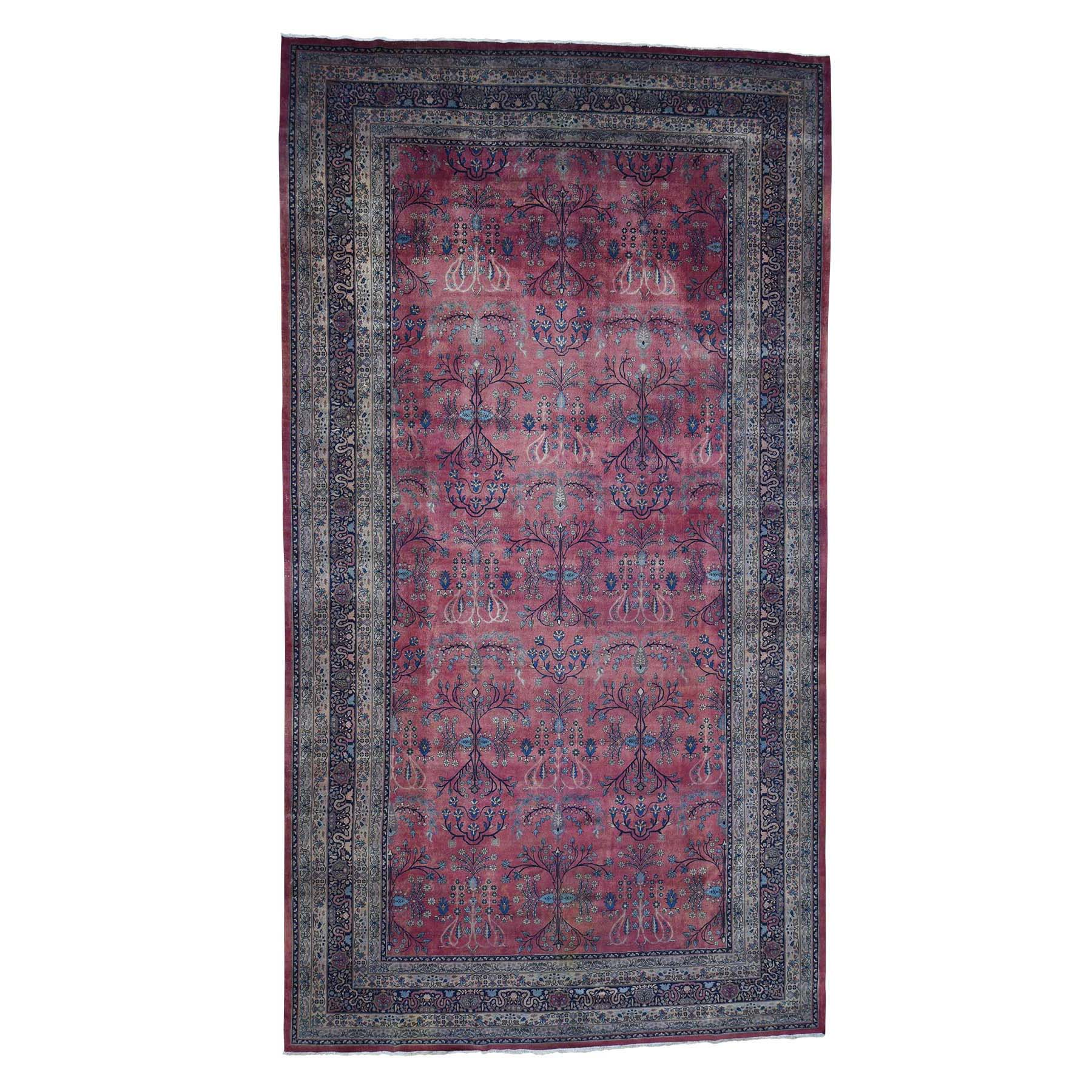 Antique Collection Hand Knotted Red Rug No: 0182800