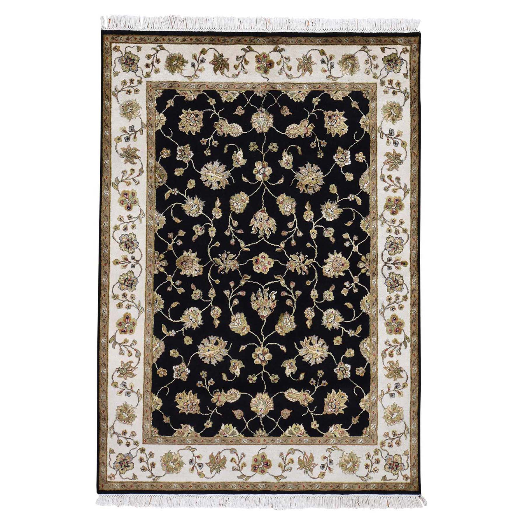 Pahlavi Collection Hand Knotted Black Rug No: 0193006