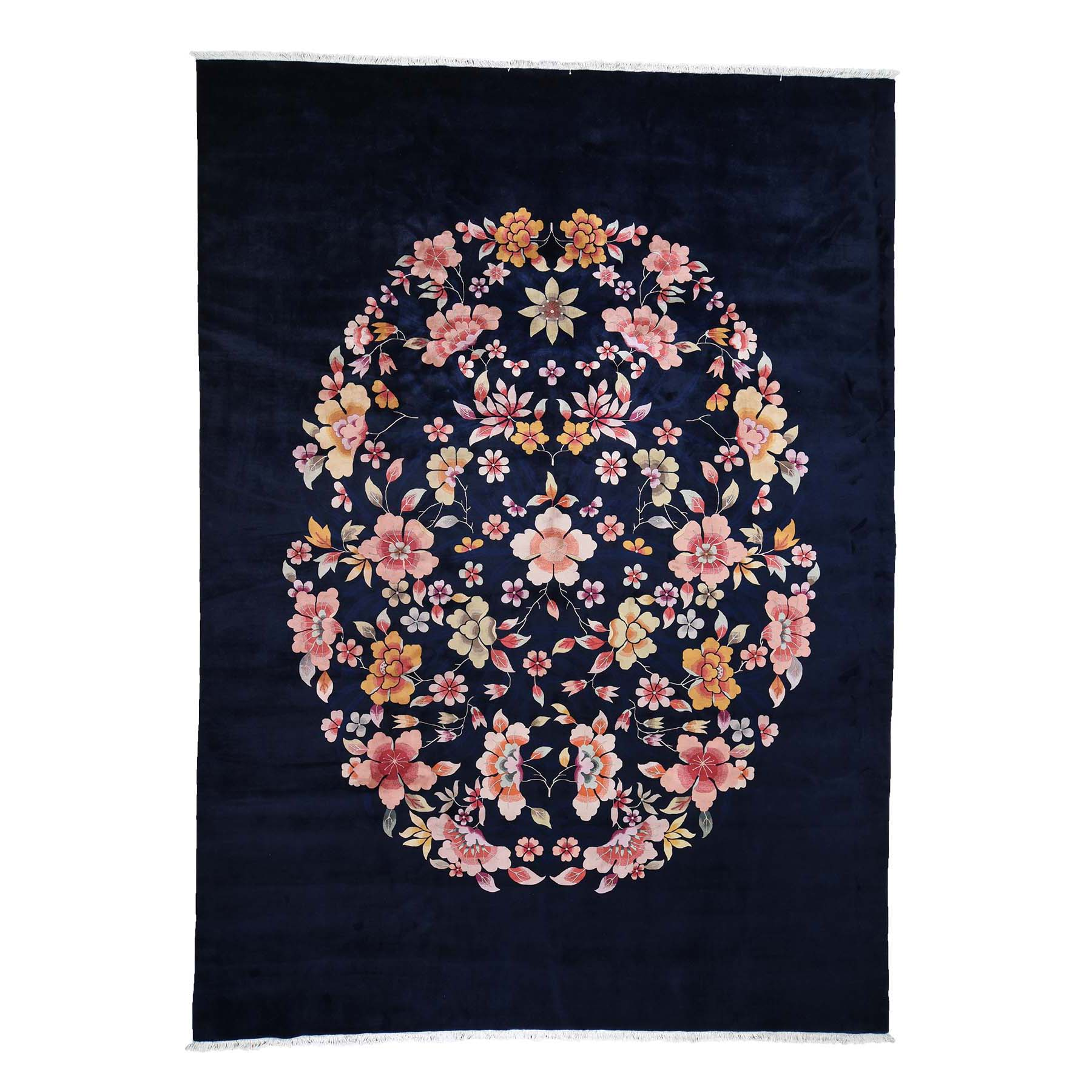 Deep discounted Collection Hand Knotted Blue Rug No: 0193014