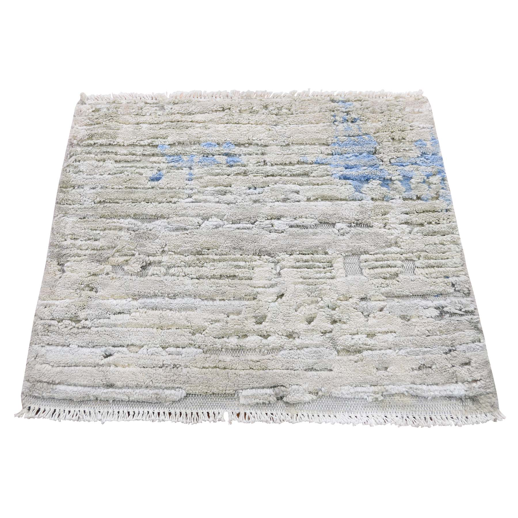 Mid Century Modern Collection Hand Knotted Ivory Rug No: 193460