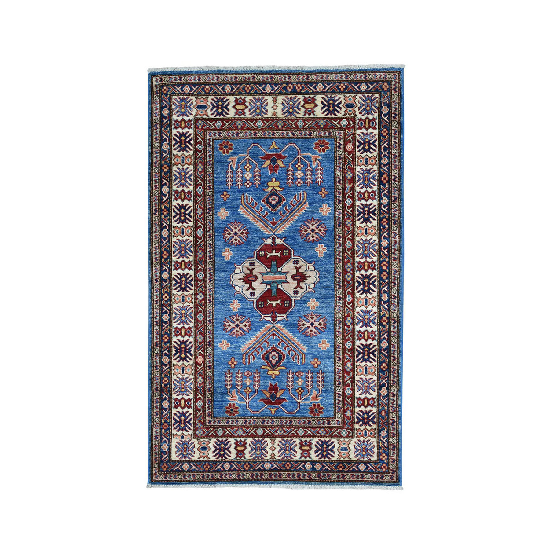 Caucasian Collection Hand Knotted Blue Rug No: 01101866