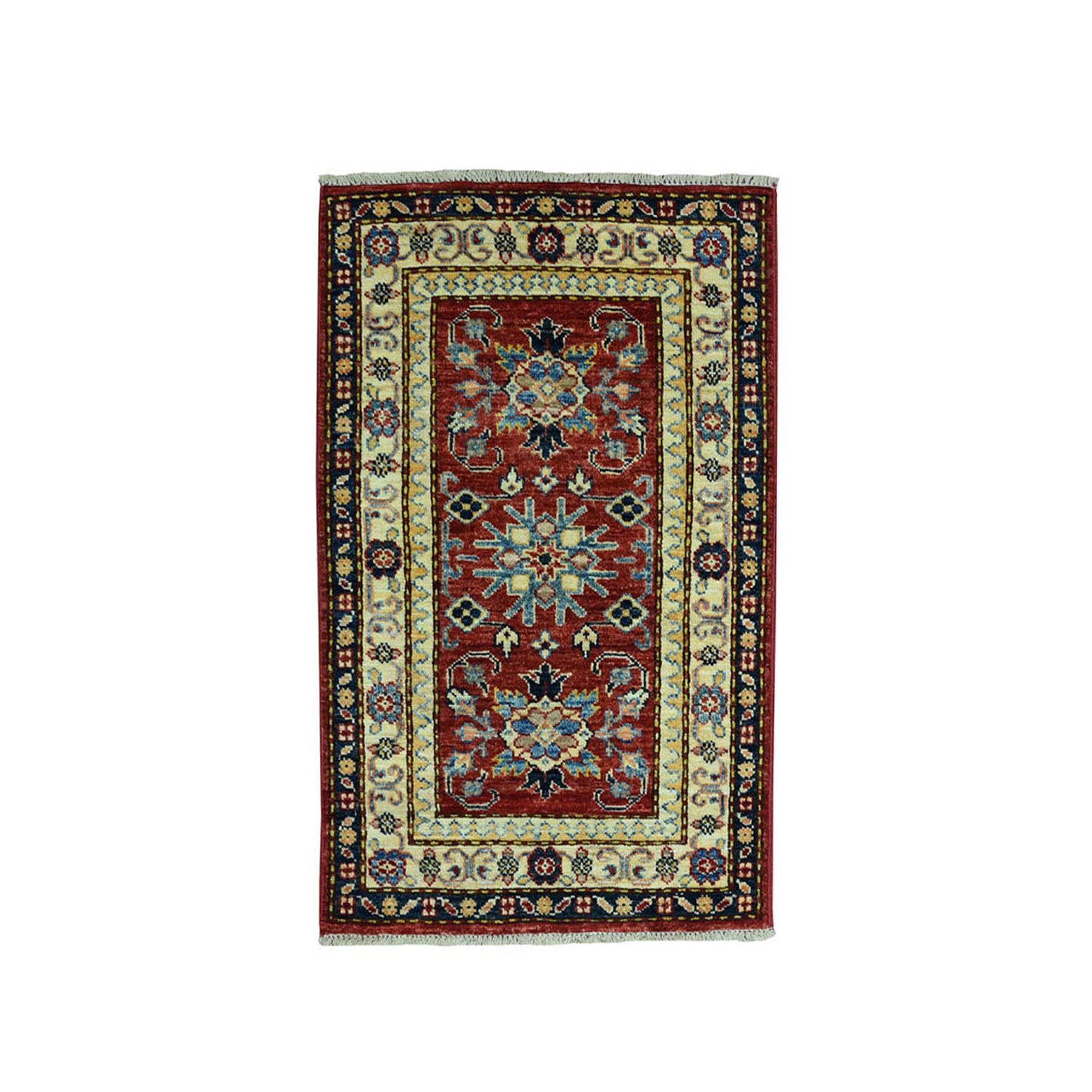 Caucasian Collection Hand Knotted Red Rug No: 01101846