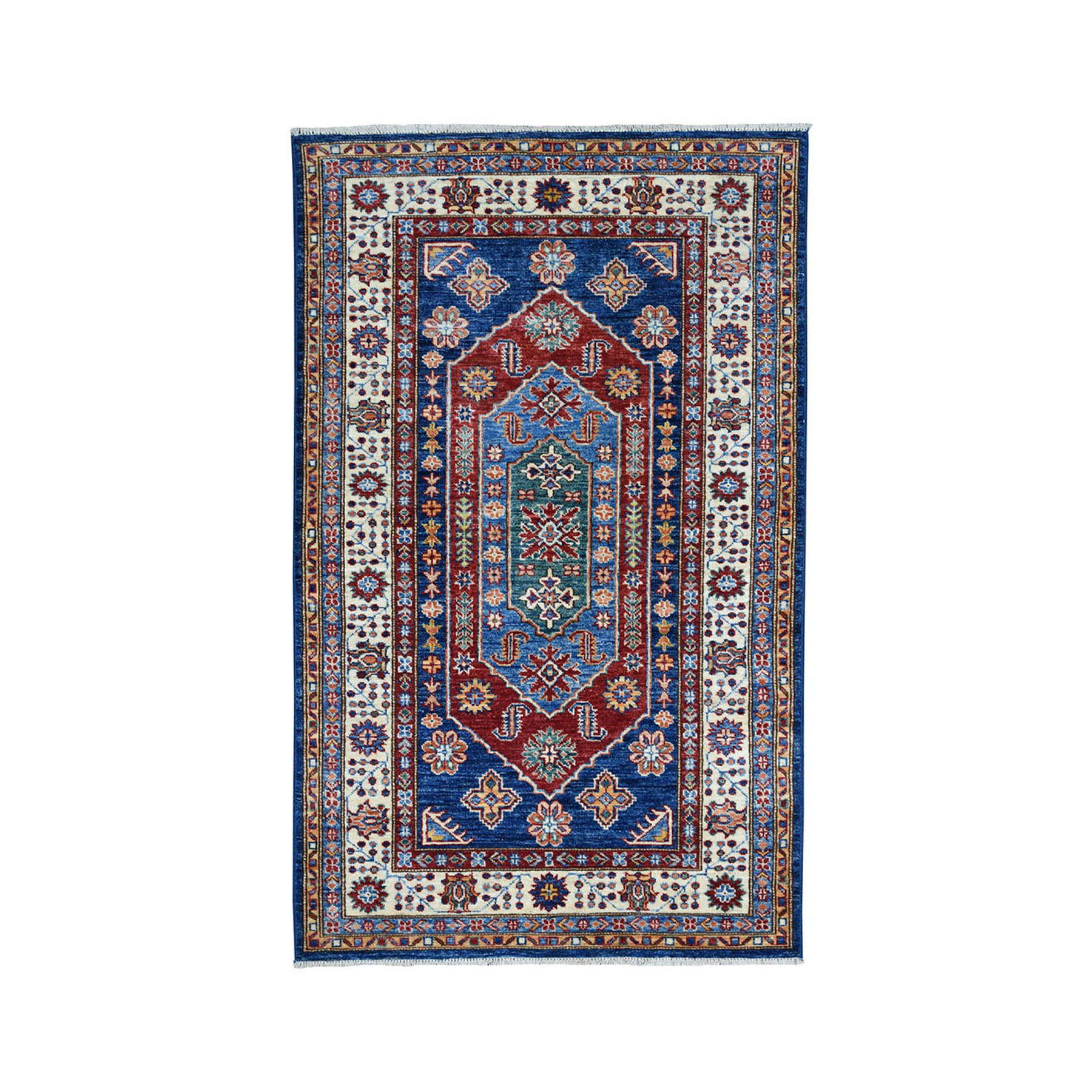 Caucasian Collection Hand Knotted Blue Rug No: 01101868