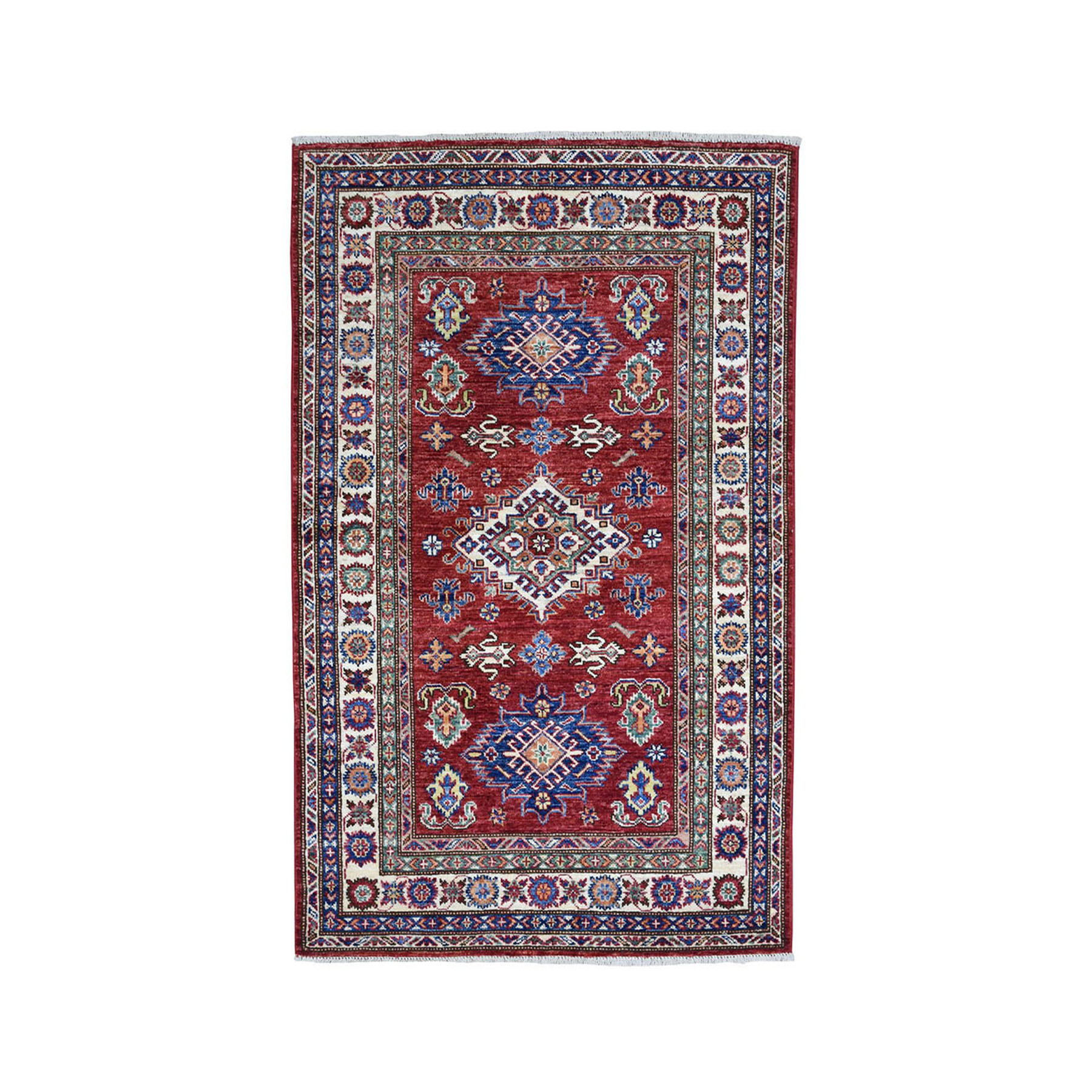 Caucasian Collection Hand Knotted Red Rug No: 01101878