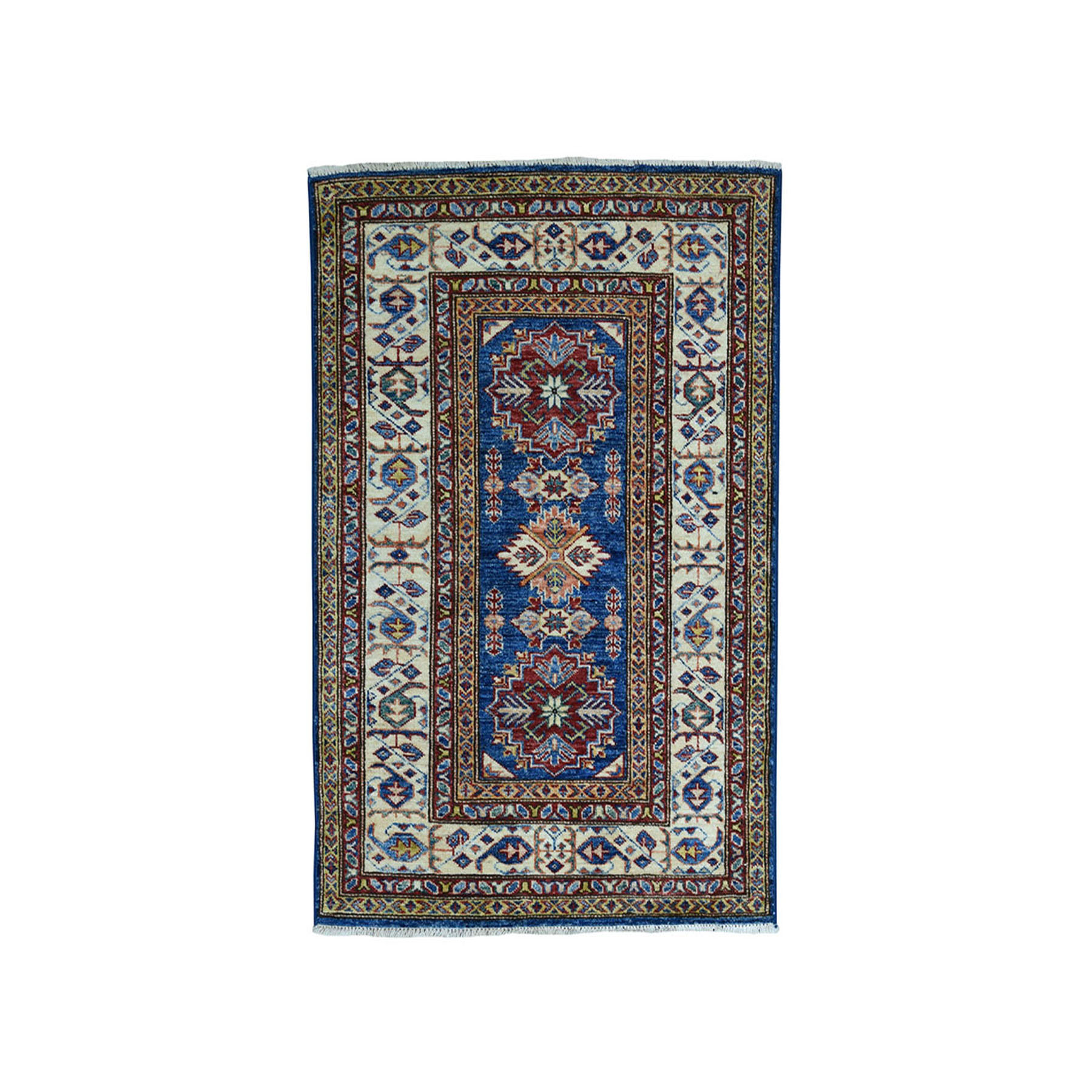 Caucasian Collection Hand Knotted Blue Rug No: 01101896