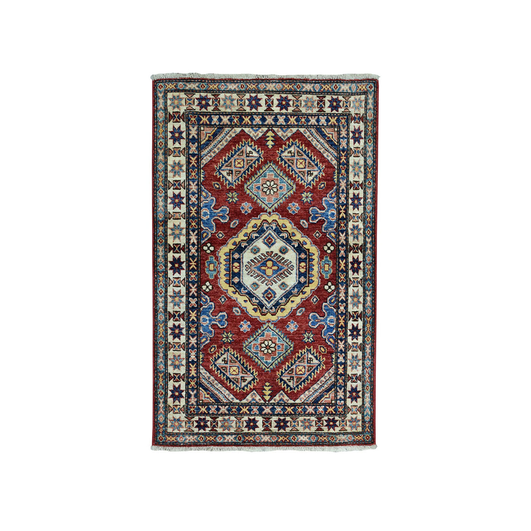 Caucasian Collection Hand Knotted Red Rug No: 01101894