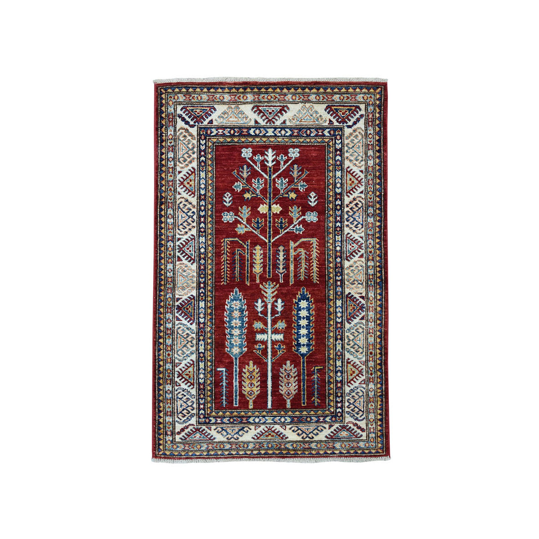 Caucasian Collection Hand Knotted Red Rug No: 01101898
