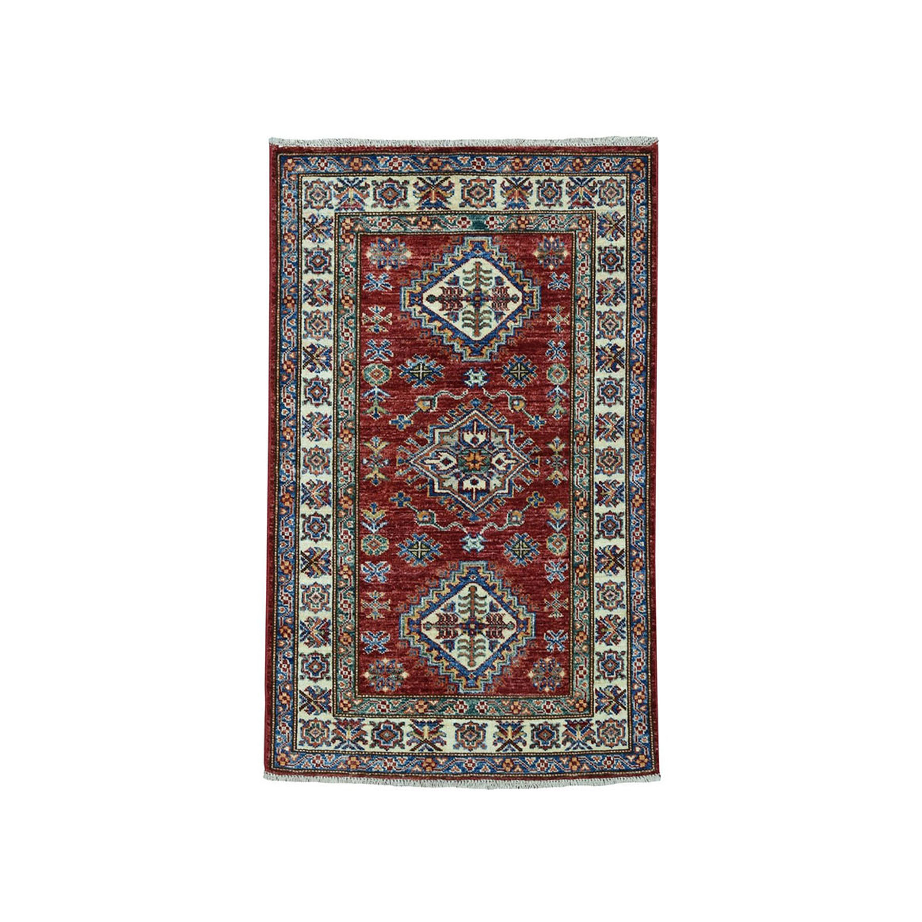 Caucasian Collection Hand Knotted Red Rug No: 01101906