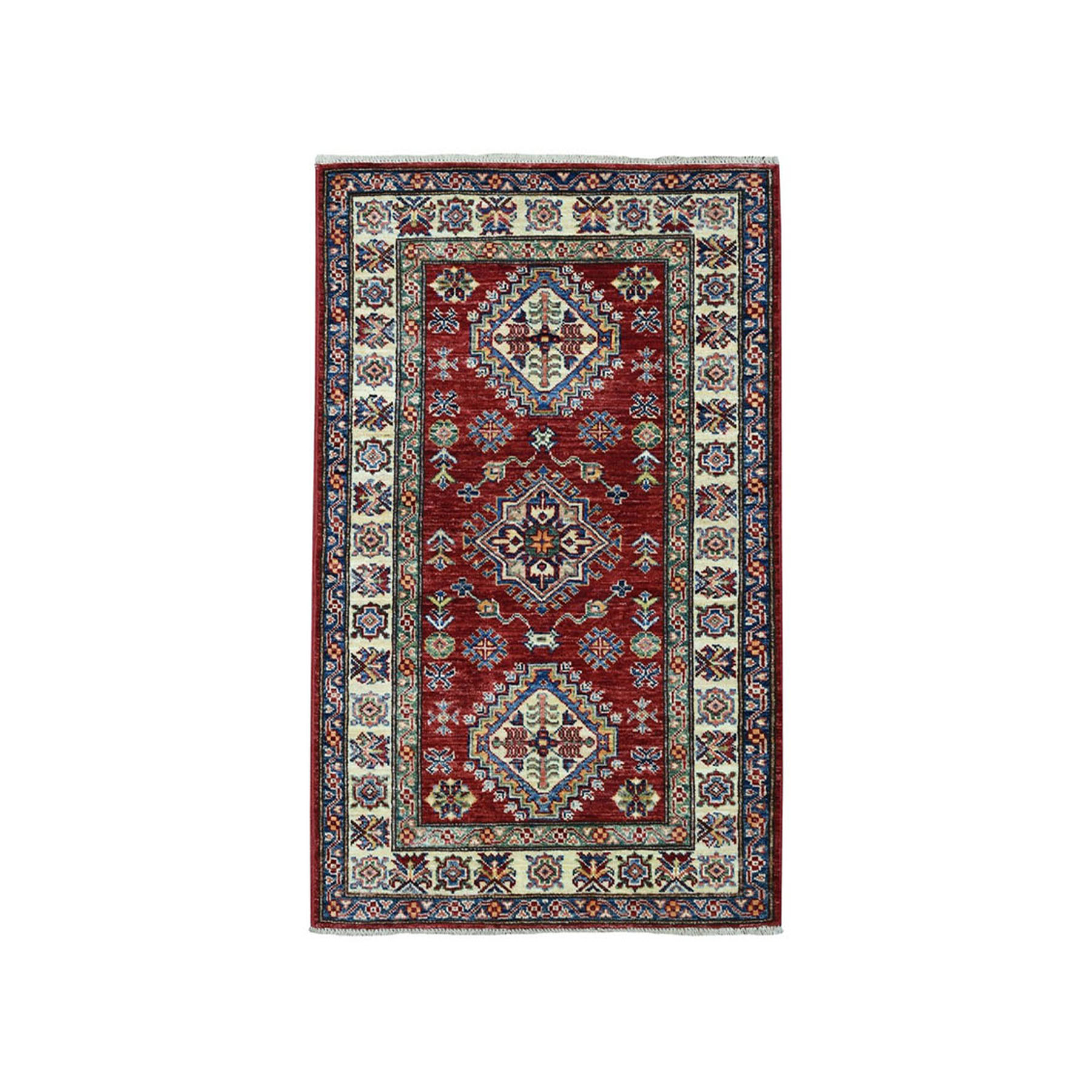 Caucasian Collection Hand Knotted Red Rug No: 01101918