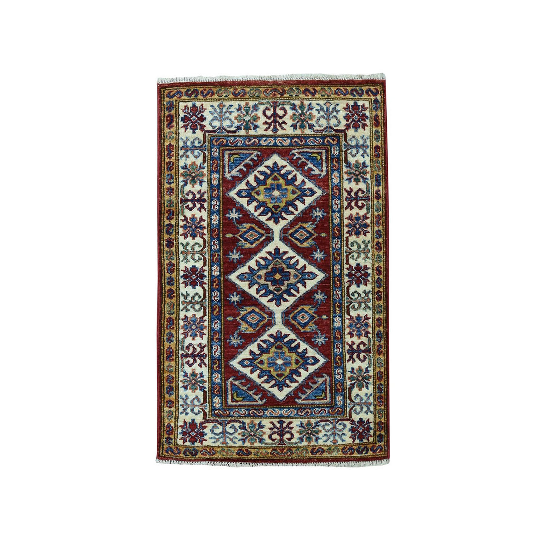 Caucasian Collection Hand Knotted Red Rug No: 01101920