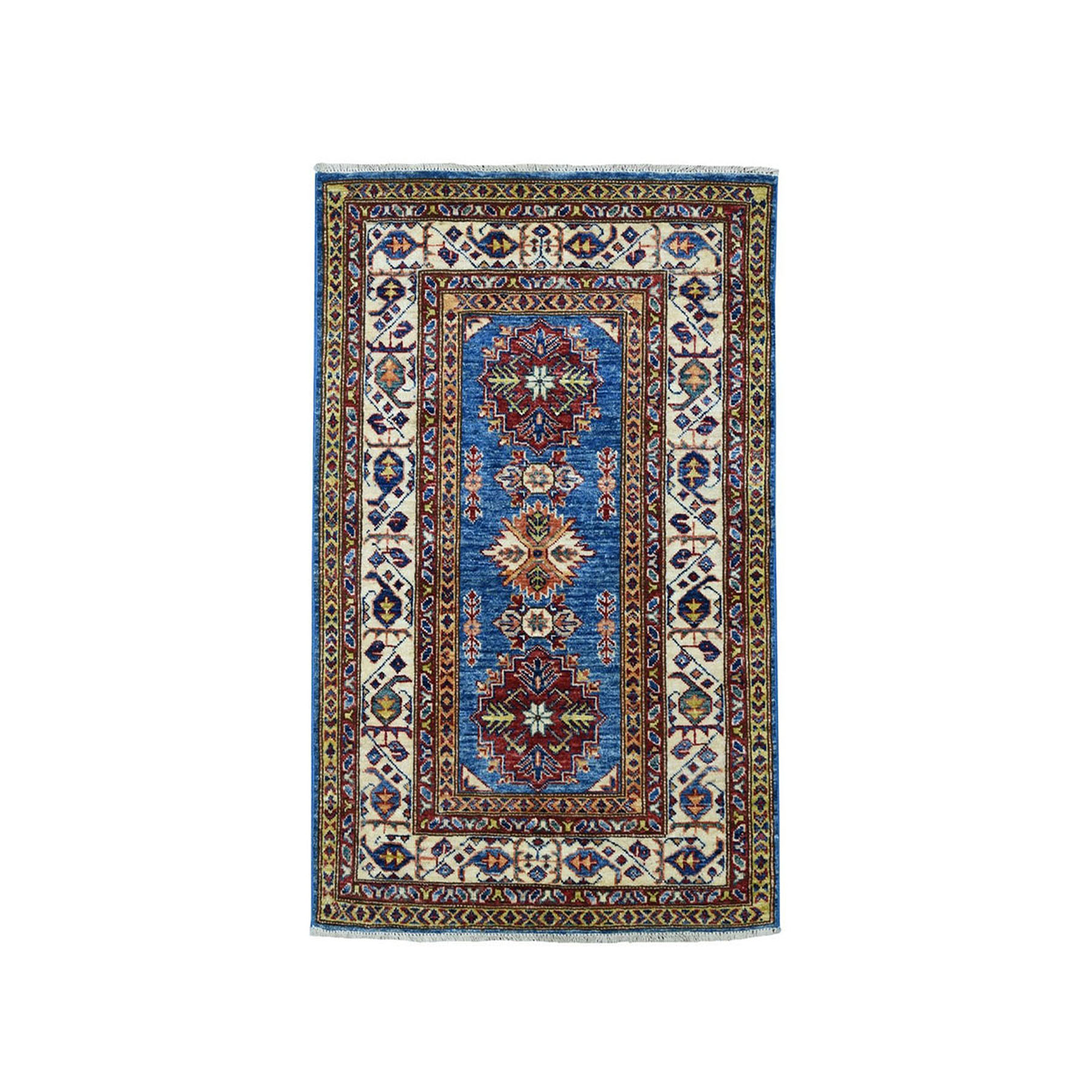Caucasian Collection Hand Knotted Blue Rug No: 01101924
