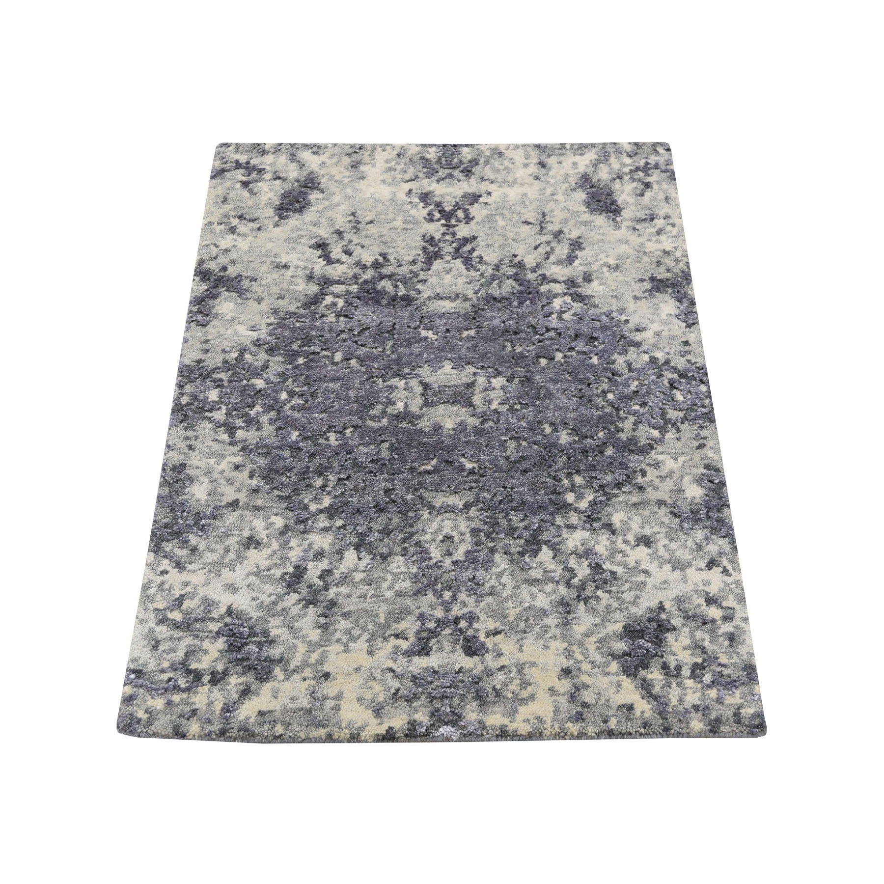 Mid Century Modern Collection Hand Knotted Purple Rug No: 0193670