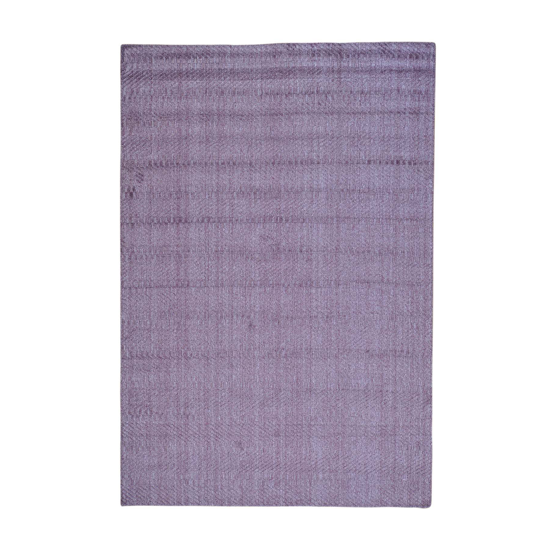 Mid Century Modern Collection Hand Loomed Purple Rug No: 0159446