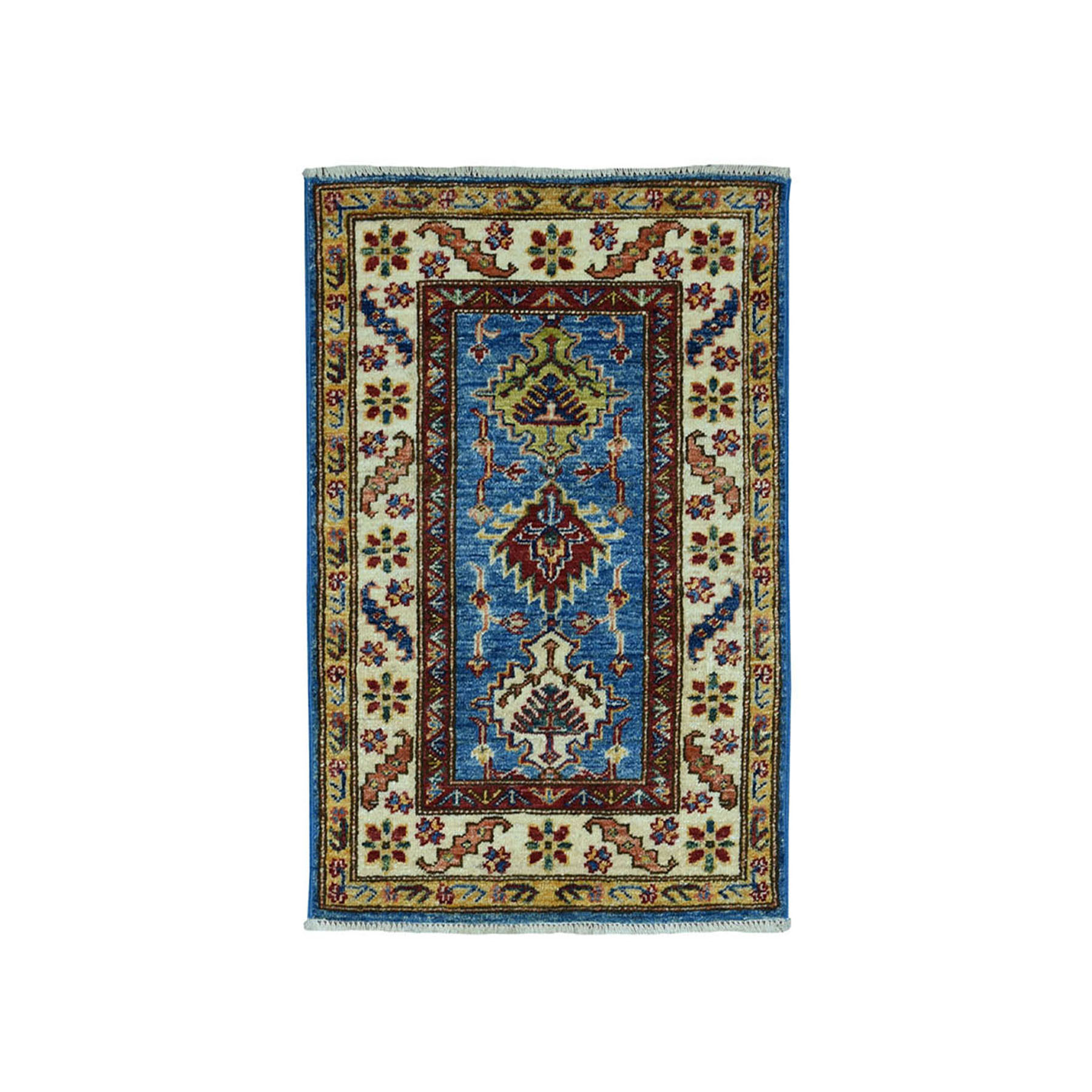Caucasian Collection Hand Knotted Blue Rug No: 01101844