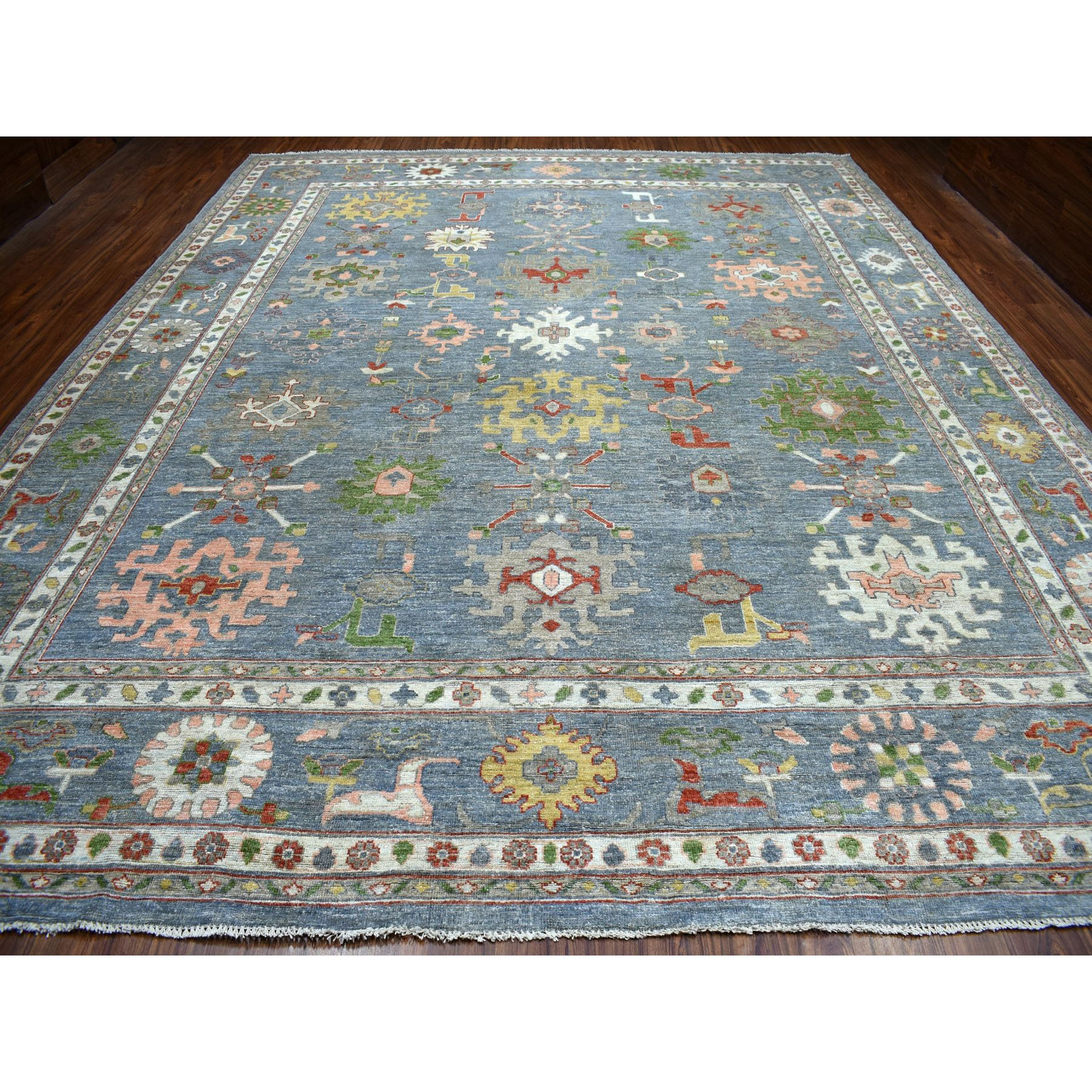 Agra And Turkish Collection Hand Knotted Grey 01103158 Rug