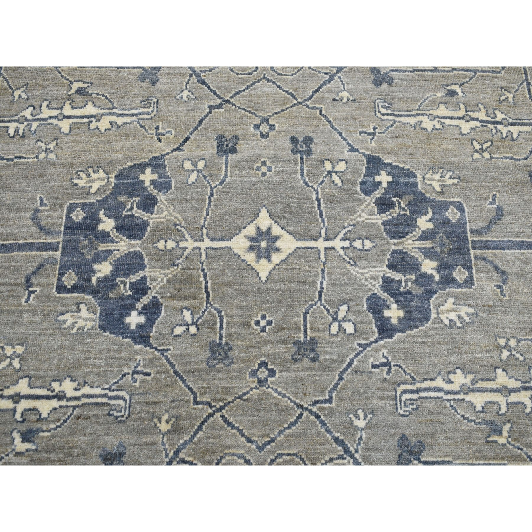 Agra And Turkish Collection Hand Knotted Grey 01103390 Rug