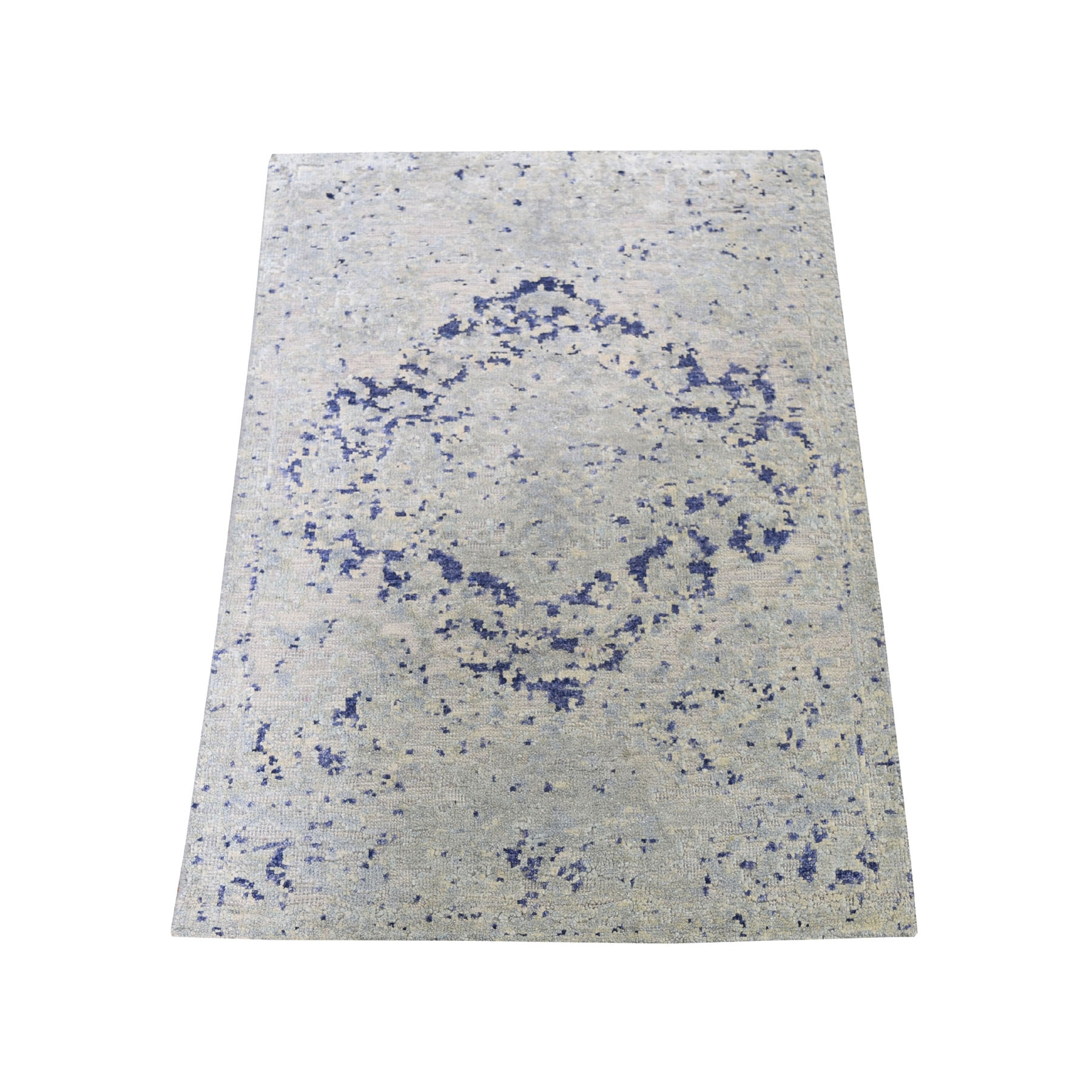 Transitional Hand Knotted Grey Rug No: 0193910