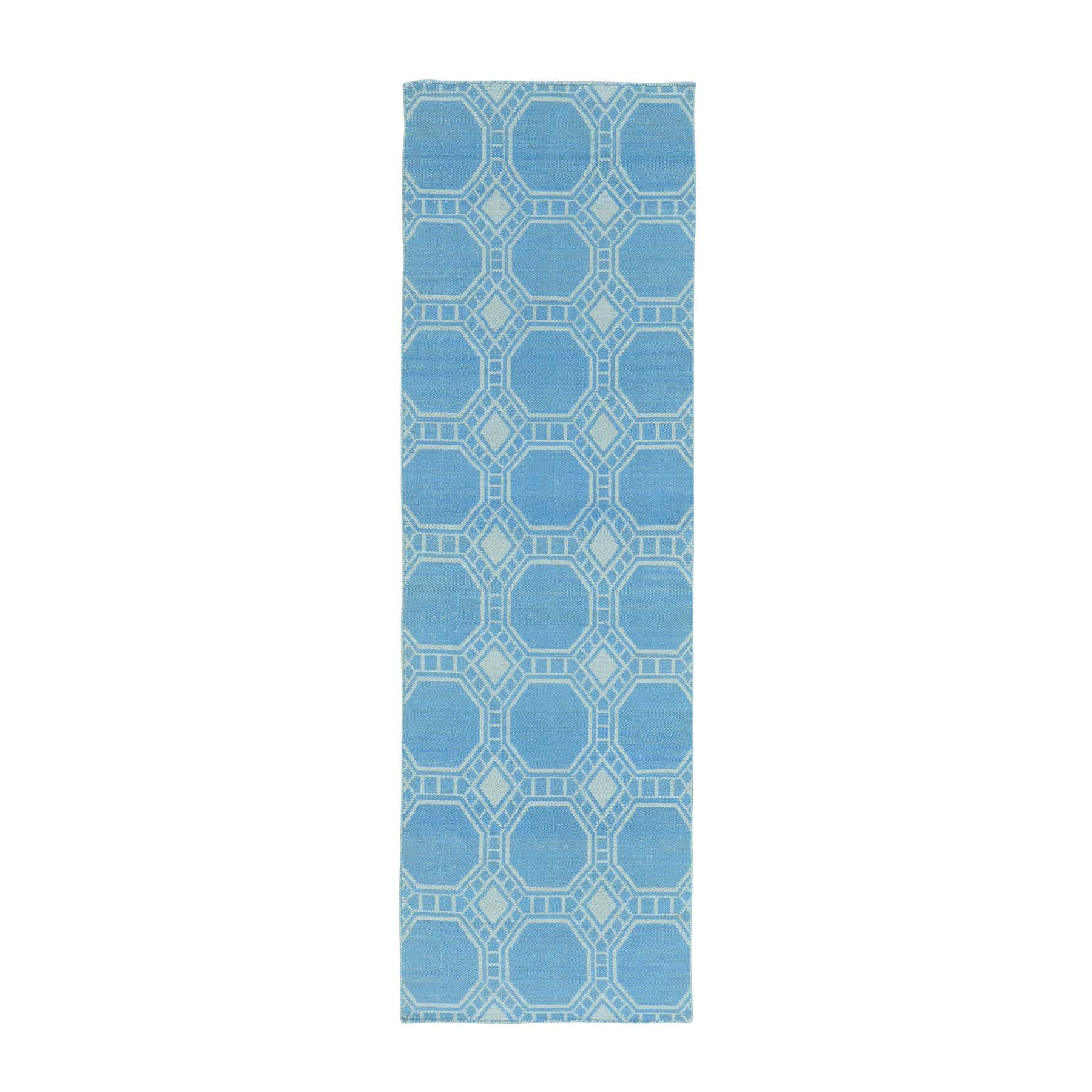 Fine Kilim Collection Hand Woven Blue Rug No: 0159666