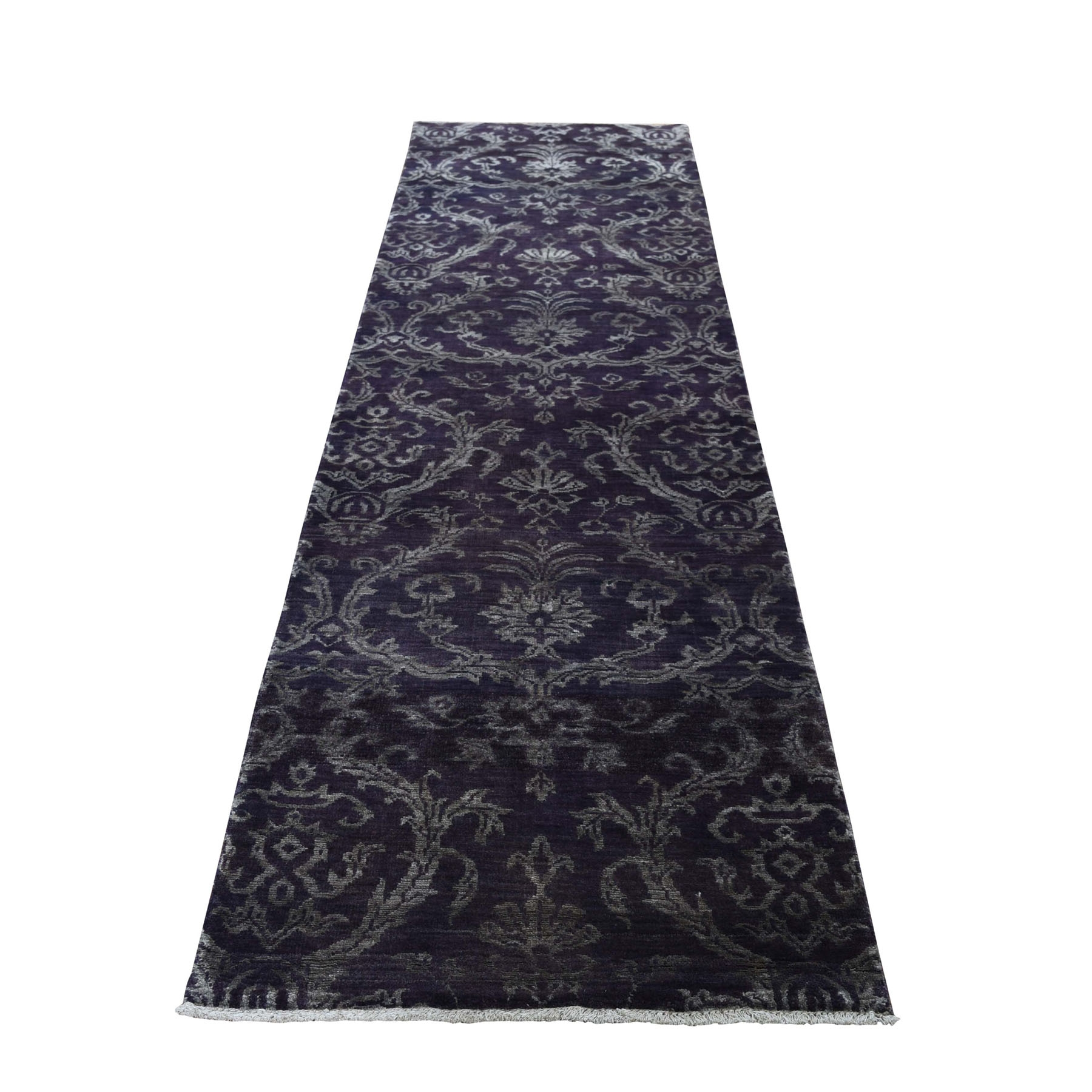 Transitional Hand Knotted Brown Rug No: 0193956