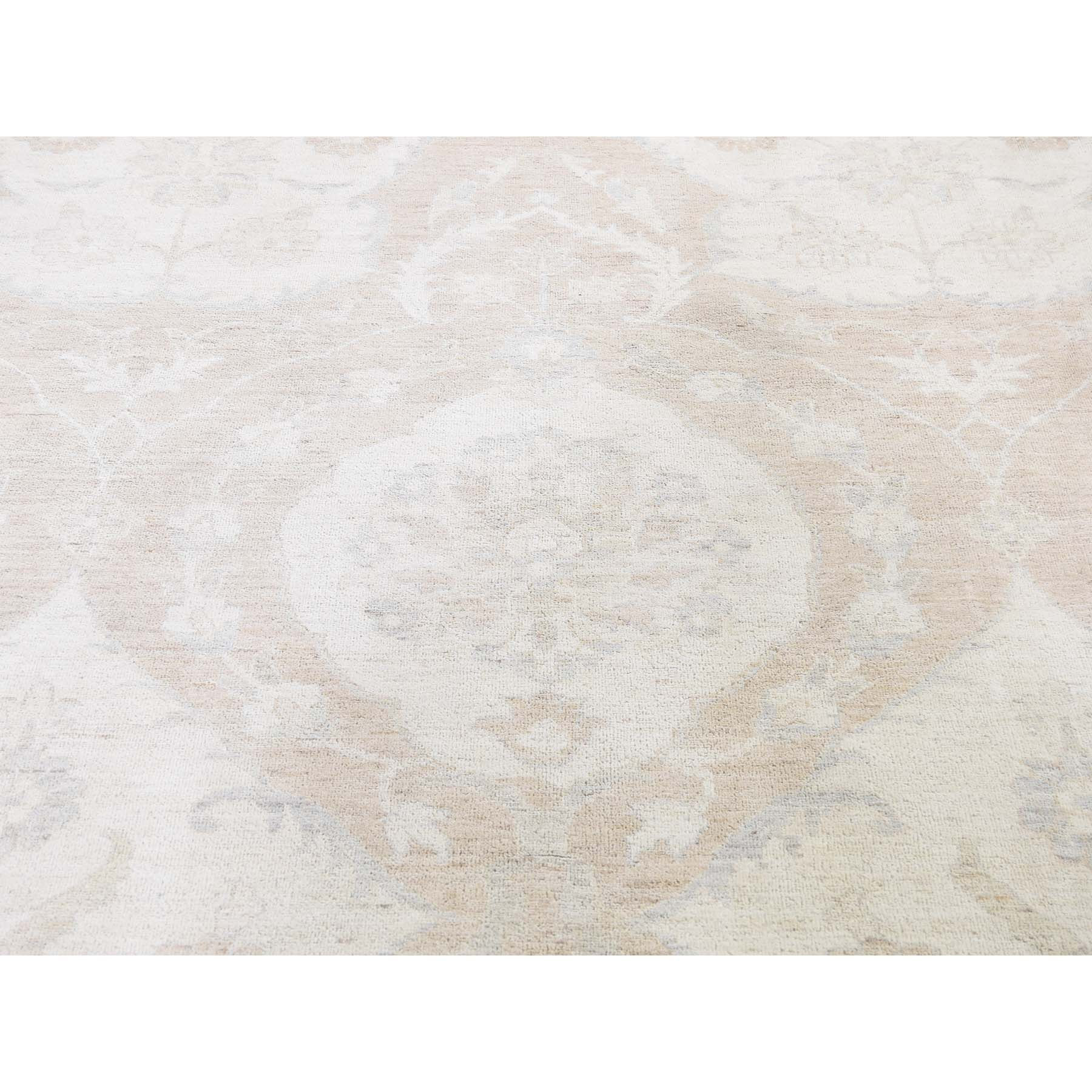 Agra And Turkish Collection Hand Knotted Ivory 0188246 Rug