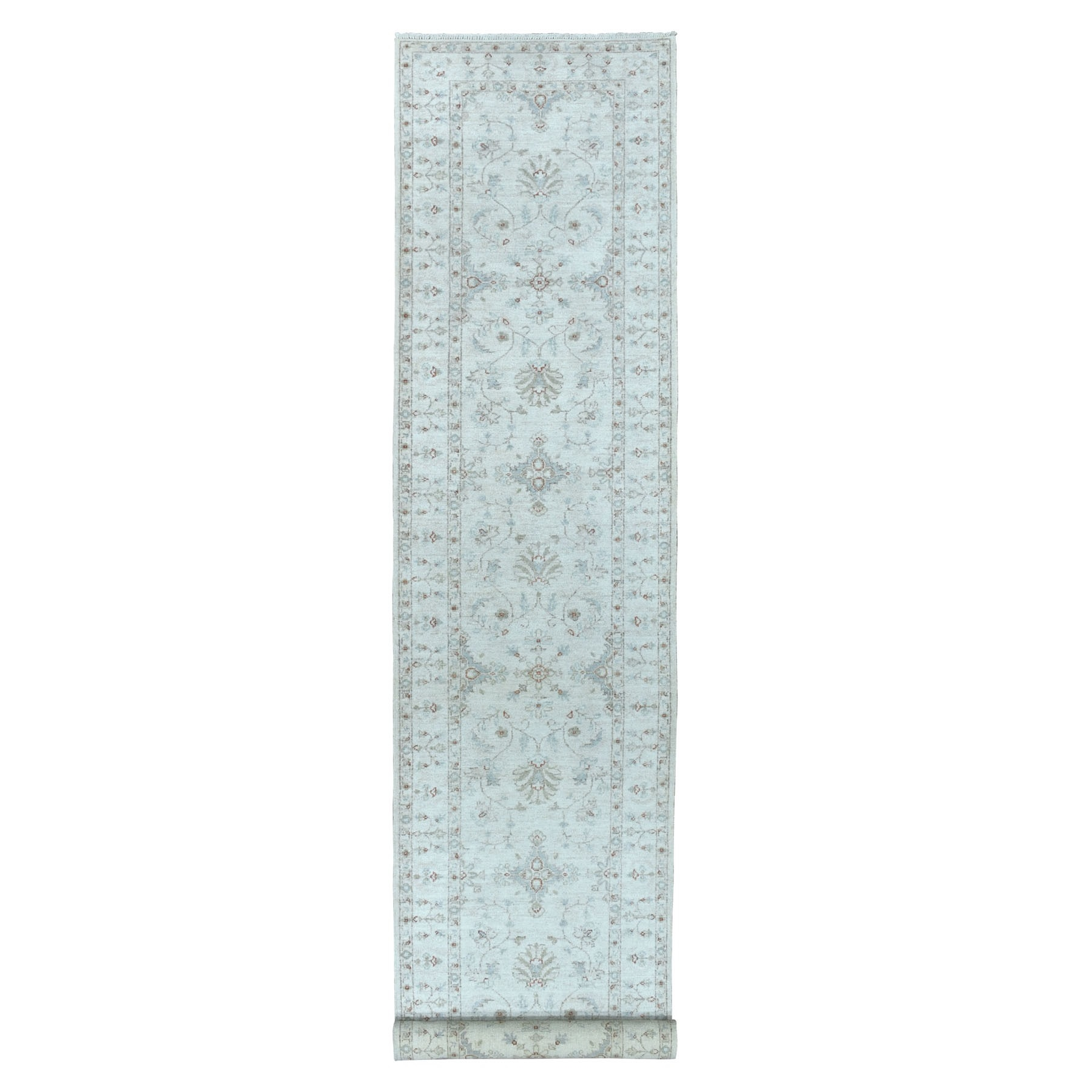 Agra And Turkish Collection Hand Knotted Ivory 01102452 Rug