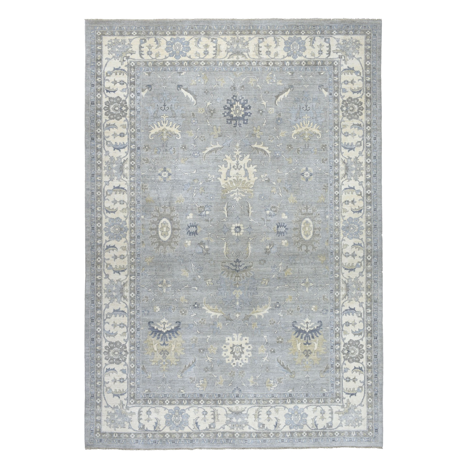 Agra And Turkish Collection Hand Knotted Grey 01102474 Rug
